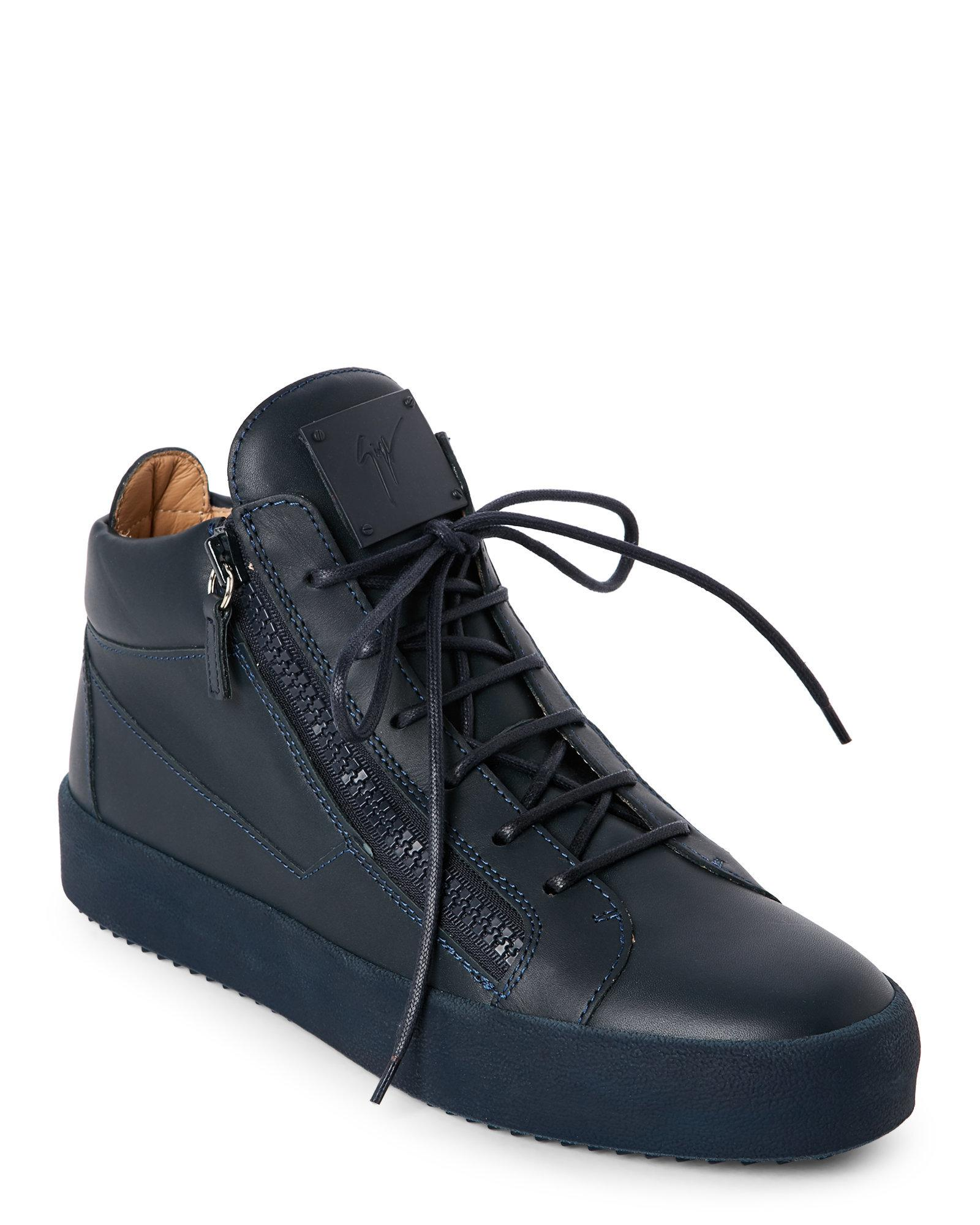 Giuseppe zanotti Navy May London Sneakers in Blue for Men ...