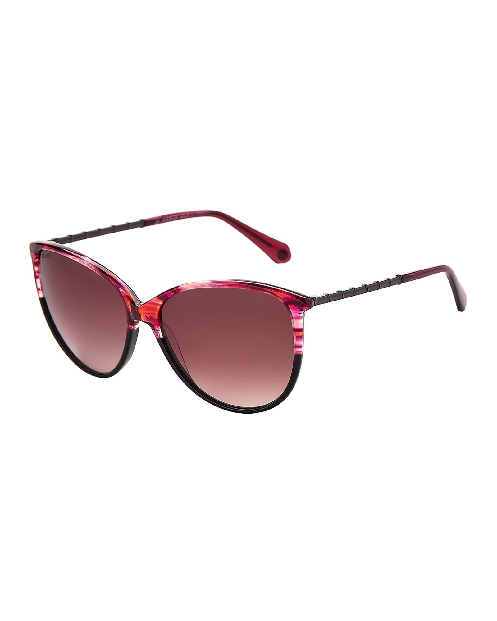 30538c8a82 Lyst - Balmain Bl2085 Purple   Black Cat Eye Sunglasses in White