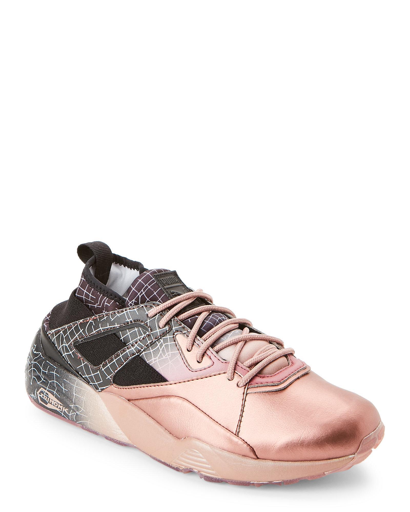 3e9b3883394728 ... clearance lyst puma rose gold black blaze of glory sock running sneaker  in 7a0d5 38bfc