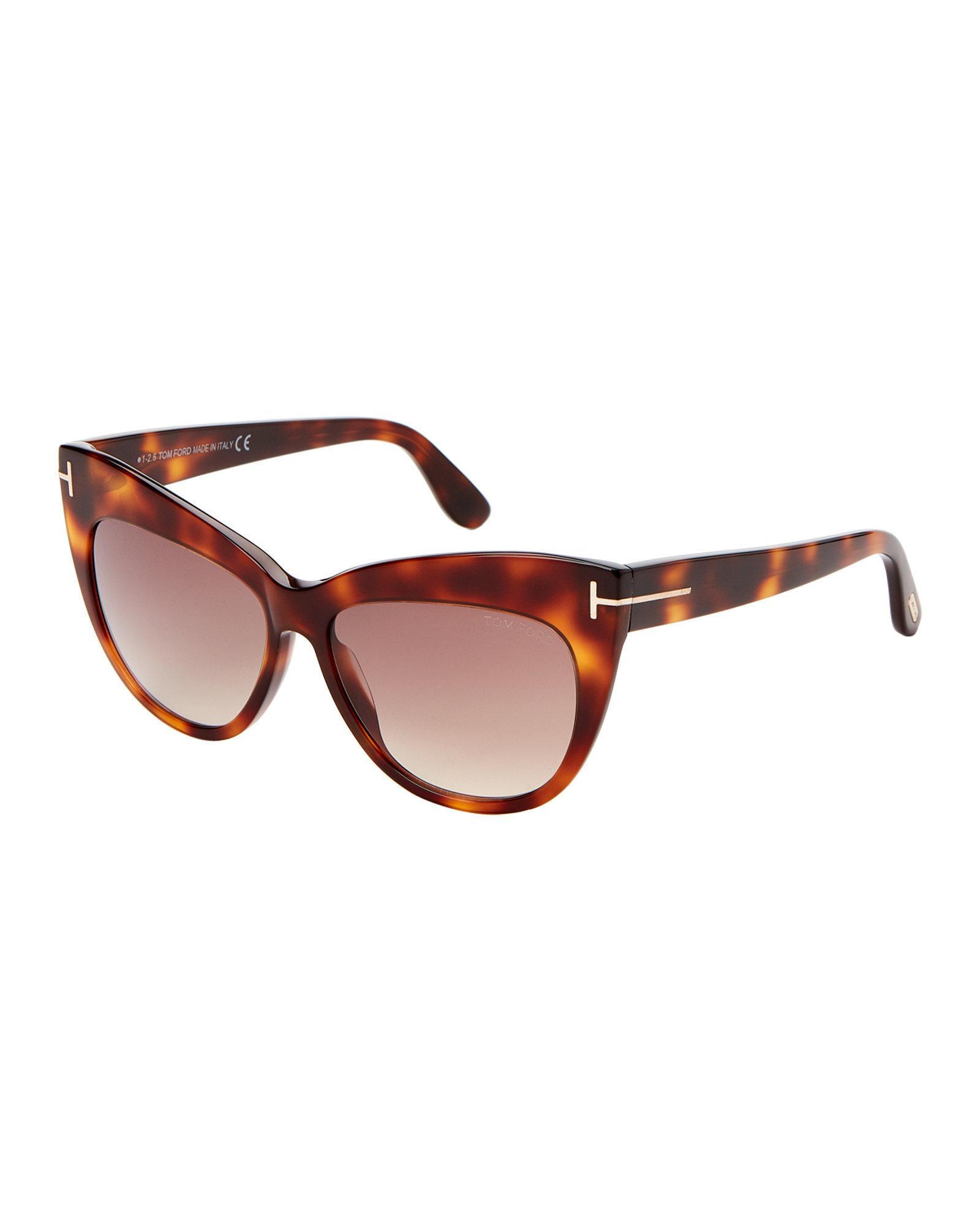 66b41d1c11b Lyst - Tom Ford Tf523 Tortoiseshell-look Nika Cat Eye Sunglasses in ...