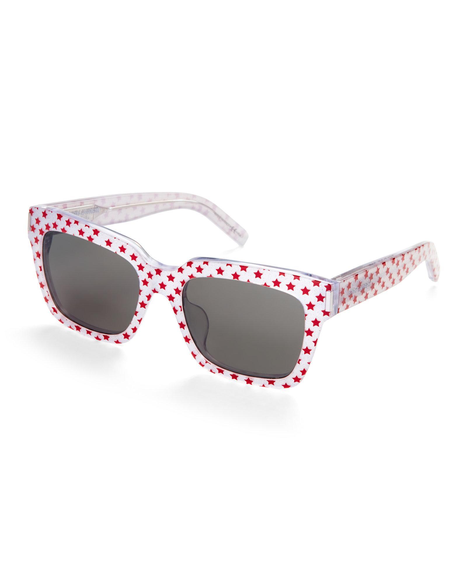 de con Eyewear estrellas Laurent estampado Saint de Gafas de sol ZqdUxf b9ad2c3e01ad