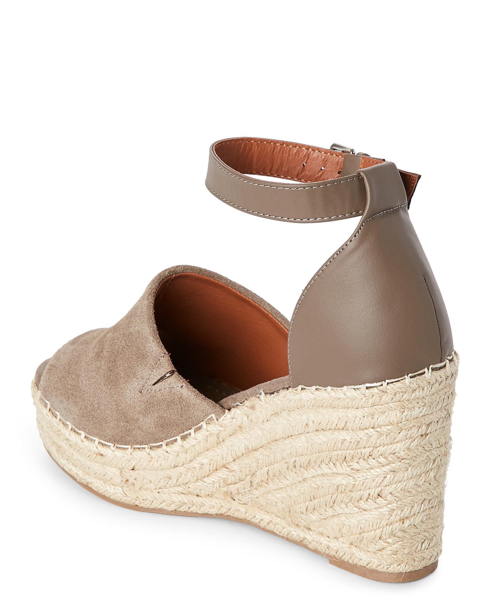 1979770251f Steve Madden Brown Taupe Jaylen Platform Wedge Espadrille Sandals