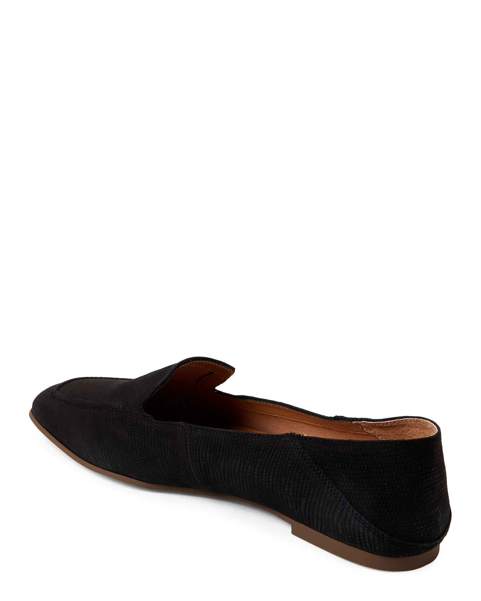 8920695afcc Lyst - Franco Sarto Black Gracie Lizard Loafers in Black