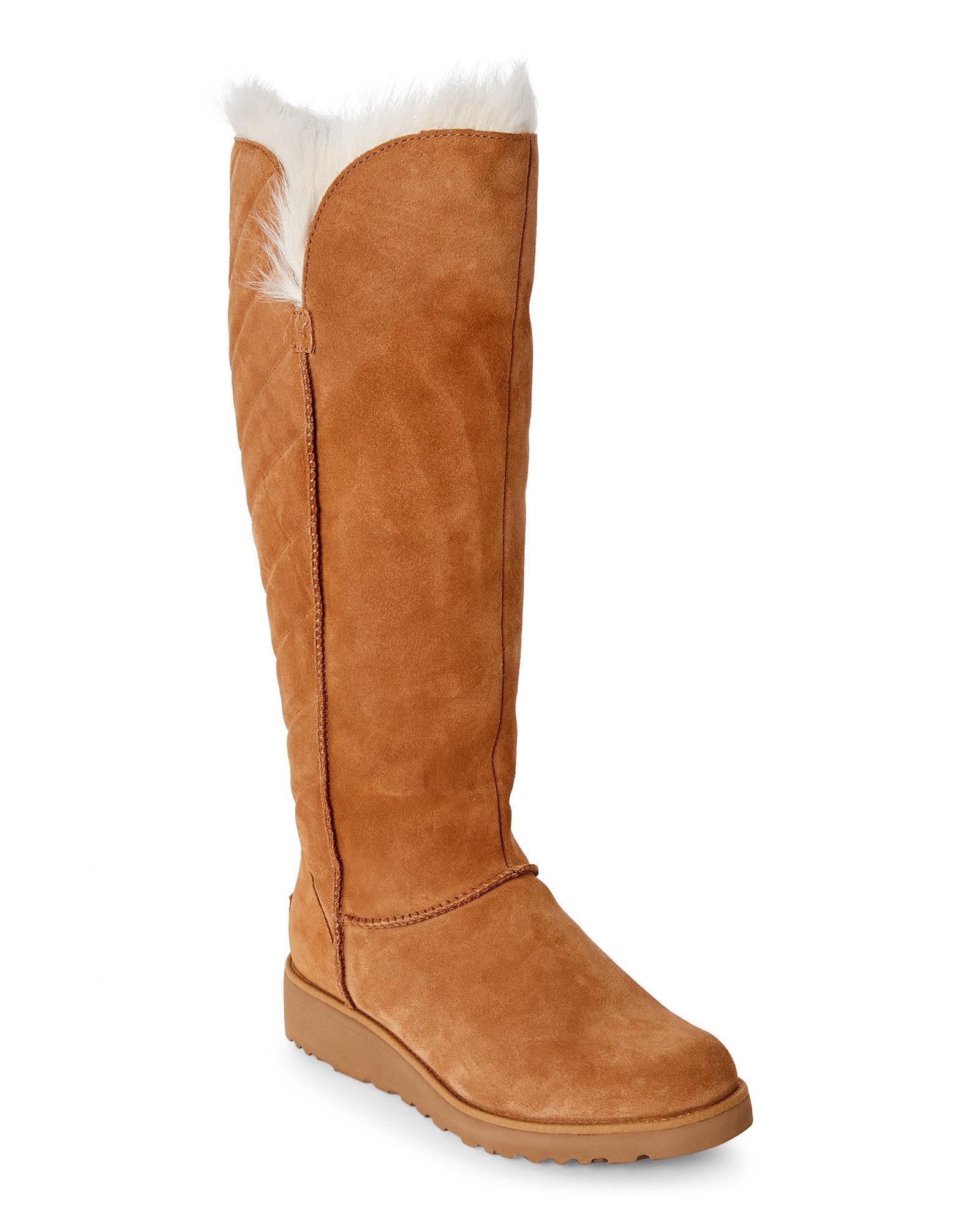772c415ac9c Ugg Brown Chestnut Rosalind Tall Sheepskin Boots