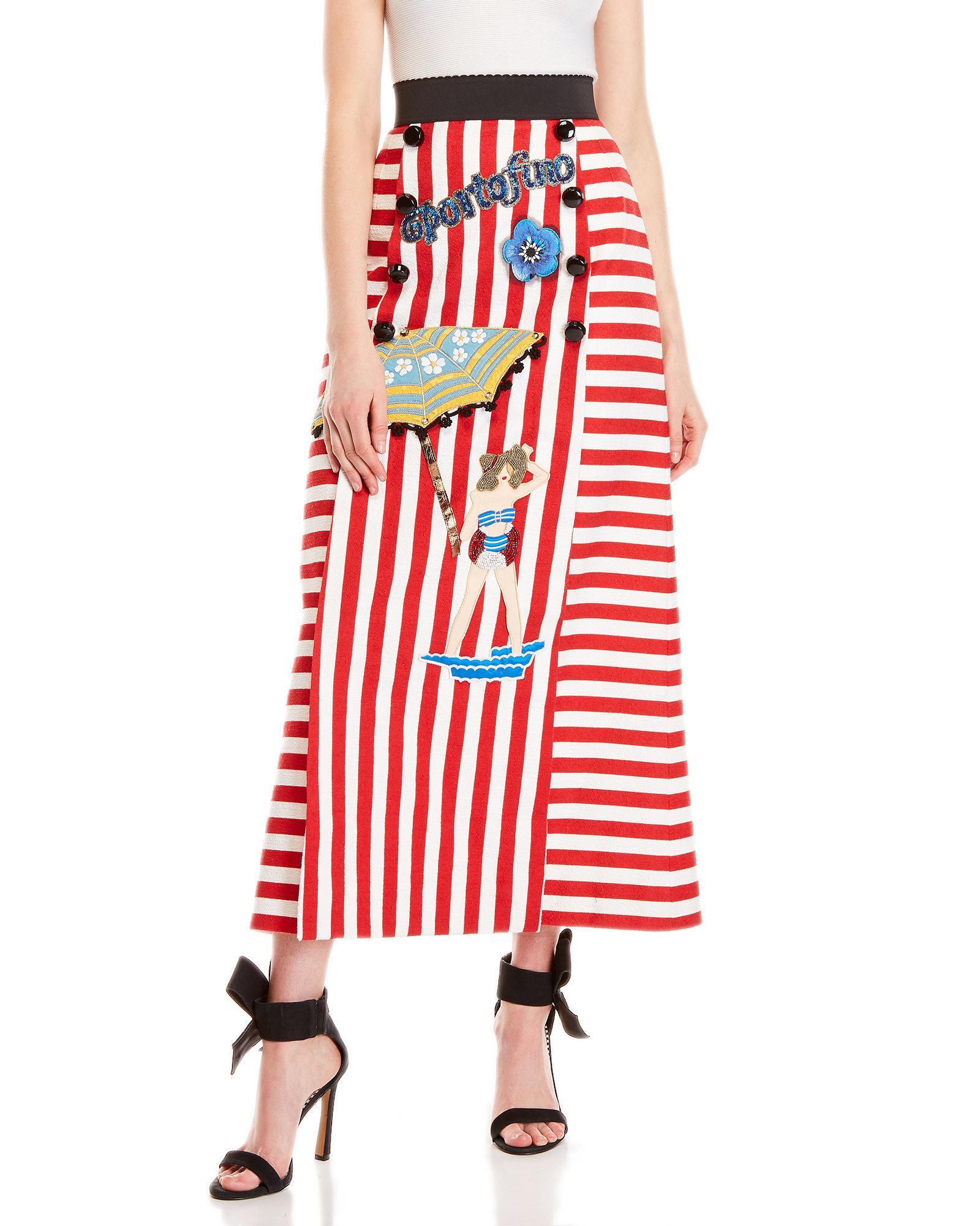d2e00106ef Red And White Striped Maxi Skirt | Saddha