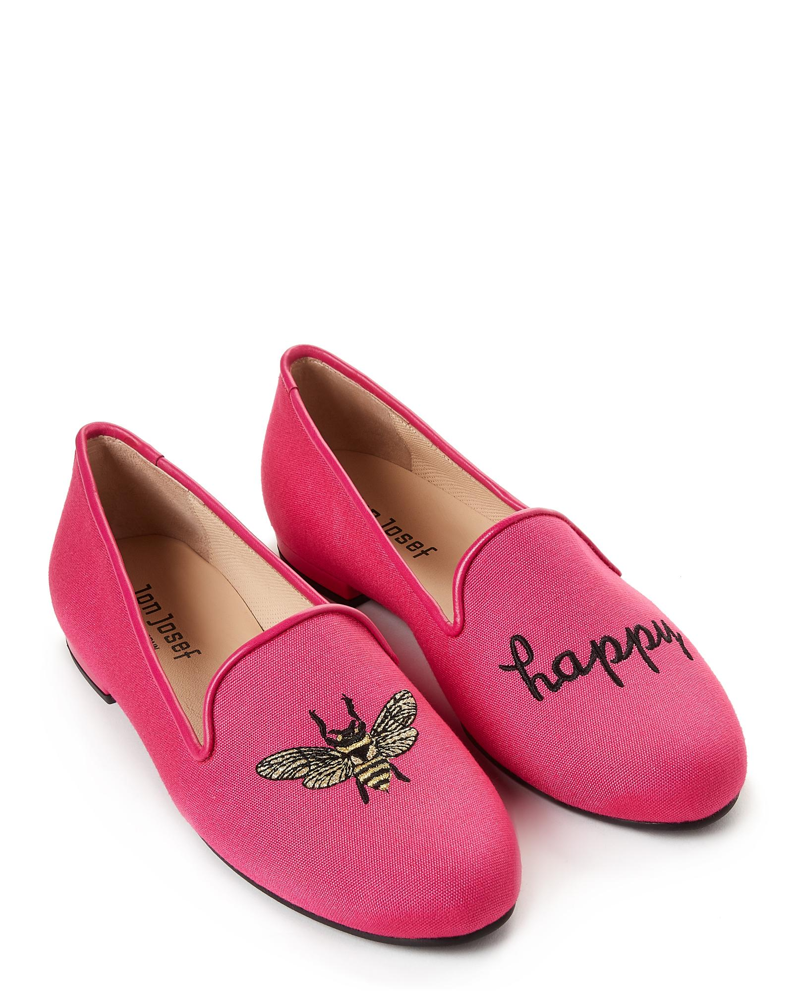 876839775c8 Lyst - Jon Josef Fuchsia Bee Happy Linen Loafers in Pink