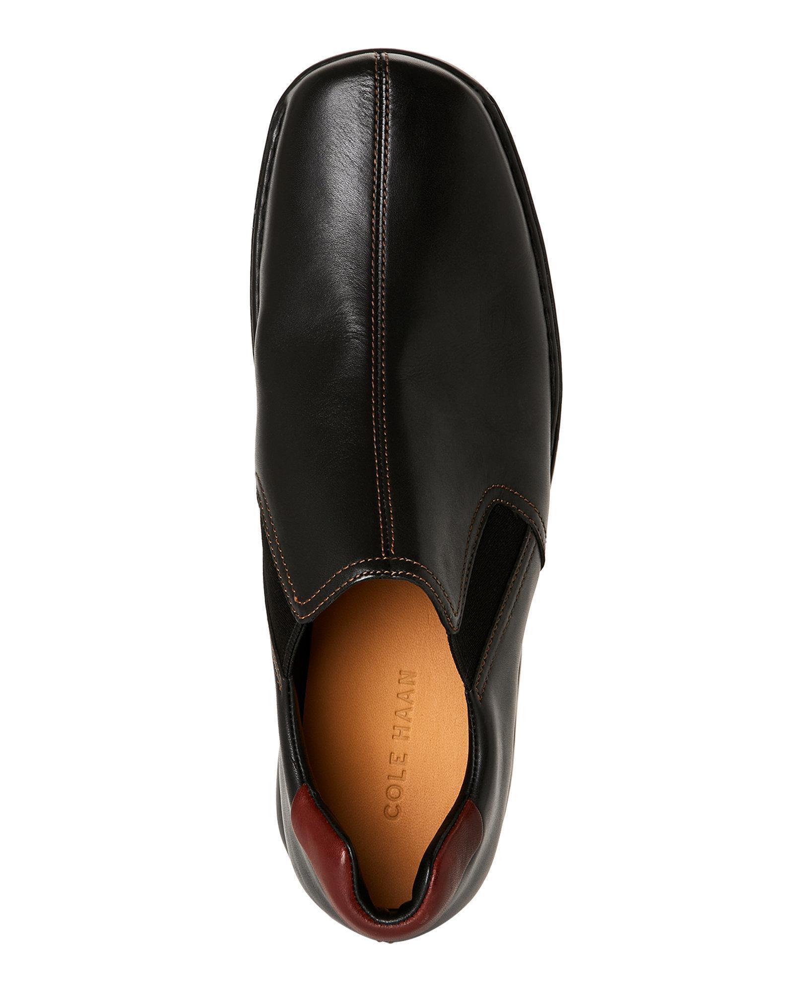 de42c22c6e9 Lyst - Cole Haan Black Zeno Slip-On Loafers in Black for Men