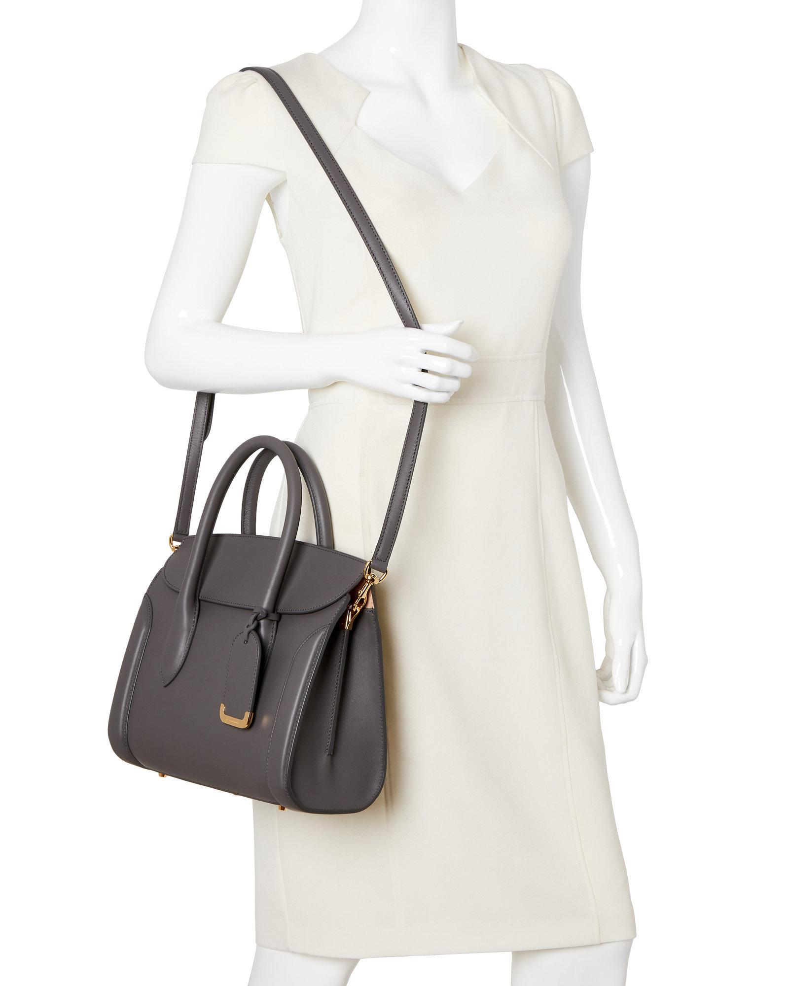 d3d385e8848af Alexander McQueen Graphite Heroine 30 Leather Tote - Lyst
