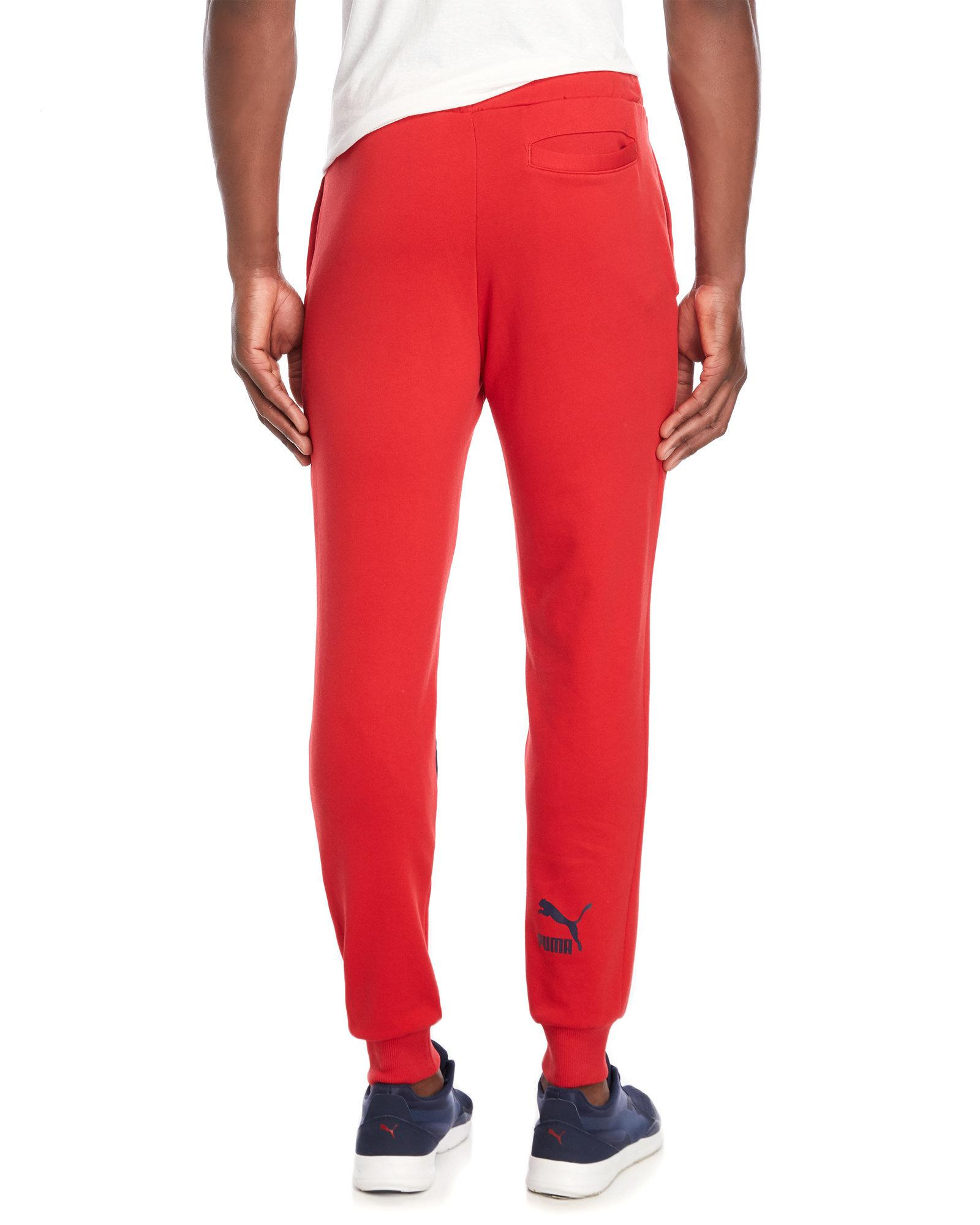 e0e0618c9c8 Lyst - PUMA Loud Pack Logo Sweatpants in Red for Men