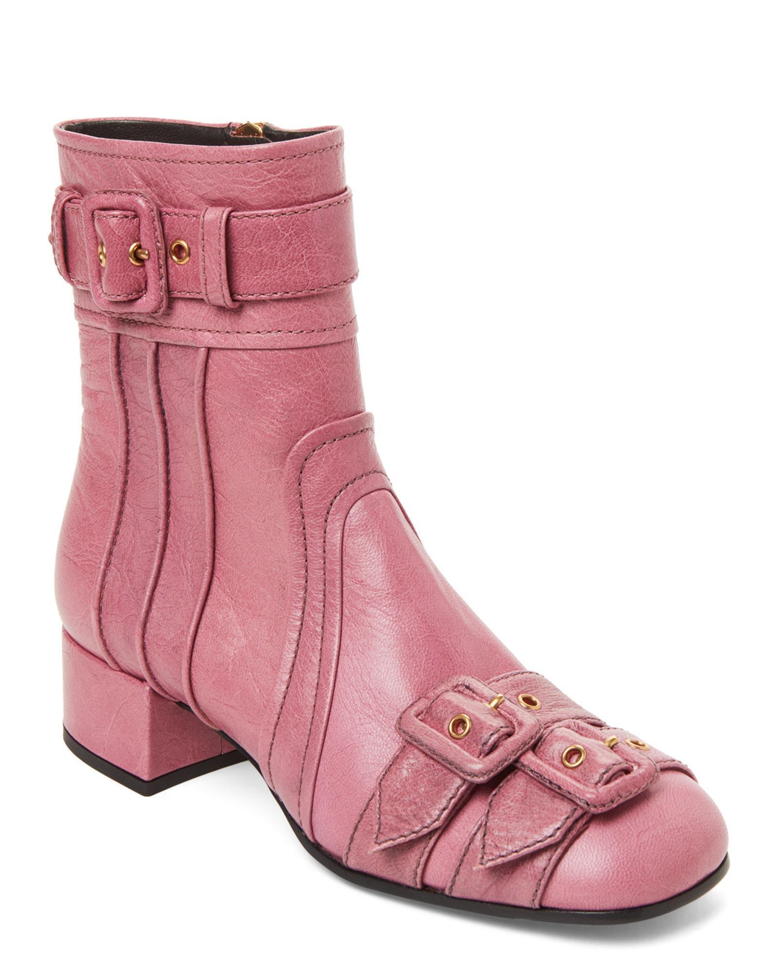2511ed45 Prada Pink Lotus Ankle Booties