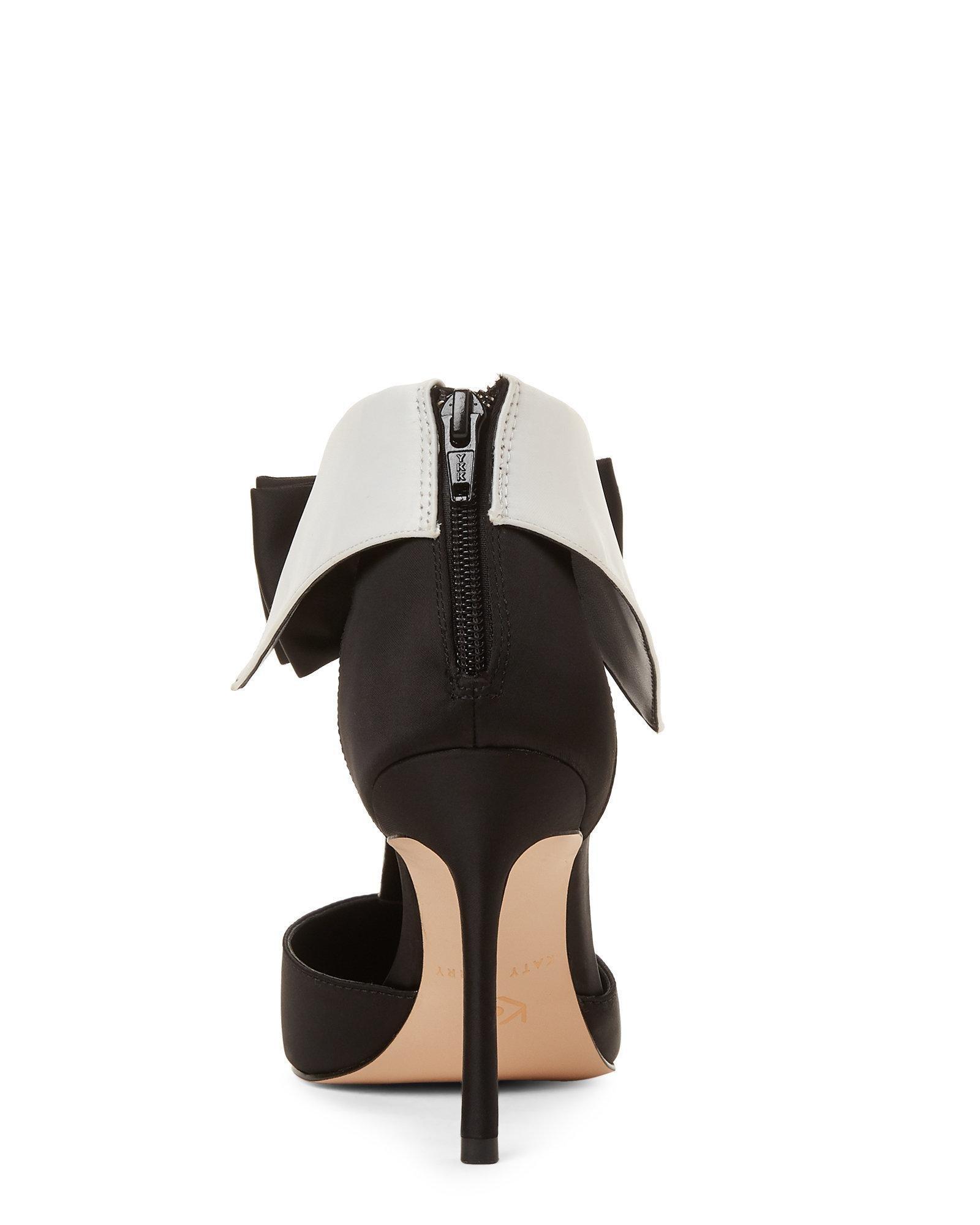 6b9112b3030 Lyst - Katy Perry The Adella Satin Stiletto Pumps in Black