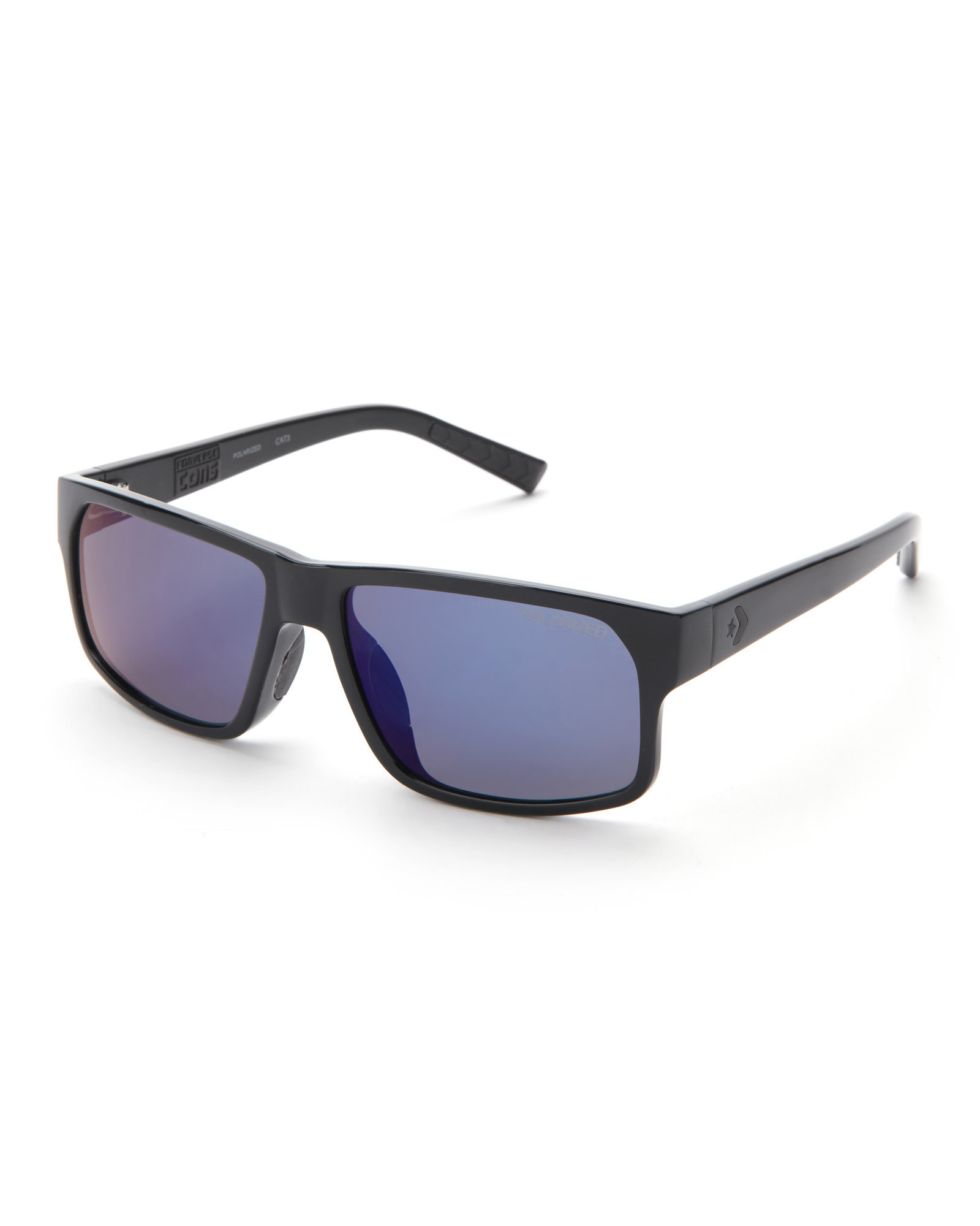 0b3c9485ac61e Lyst - Converse Black R001 Rectangle Sunglasses in Black for Men