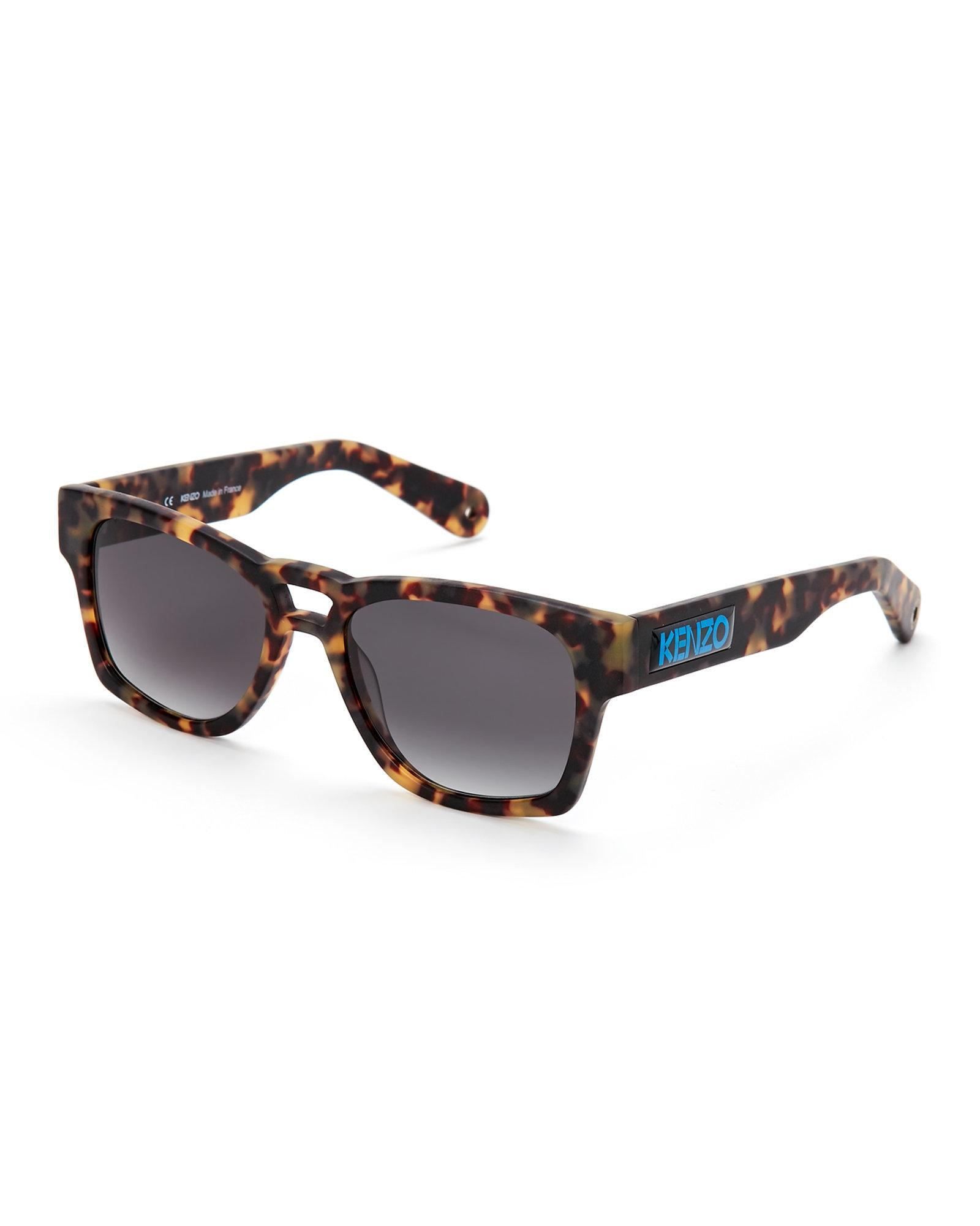 c58046d9 KENZO Multicolor Tortoiseshell-Look Kz 5105 Wayfarer Sunglasses for men