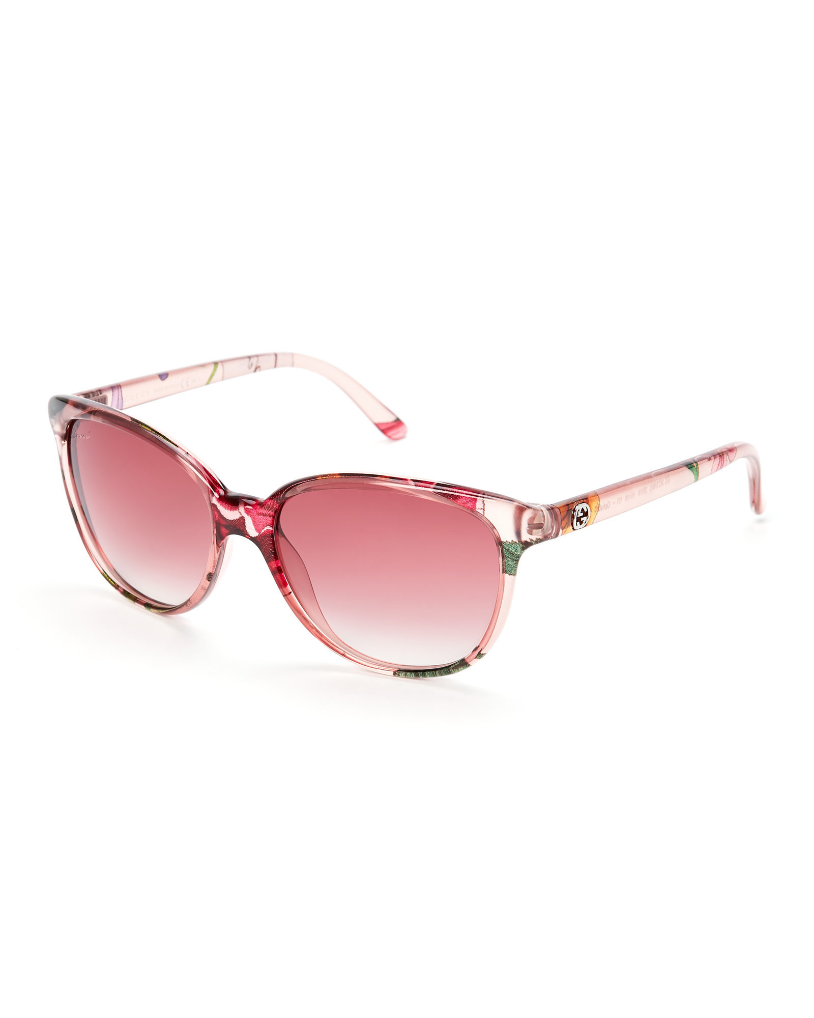 a6559c7dd Gucci Pink Floral Gg 3633/S Oval Sunglasses in Pink - Lyst