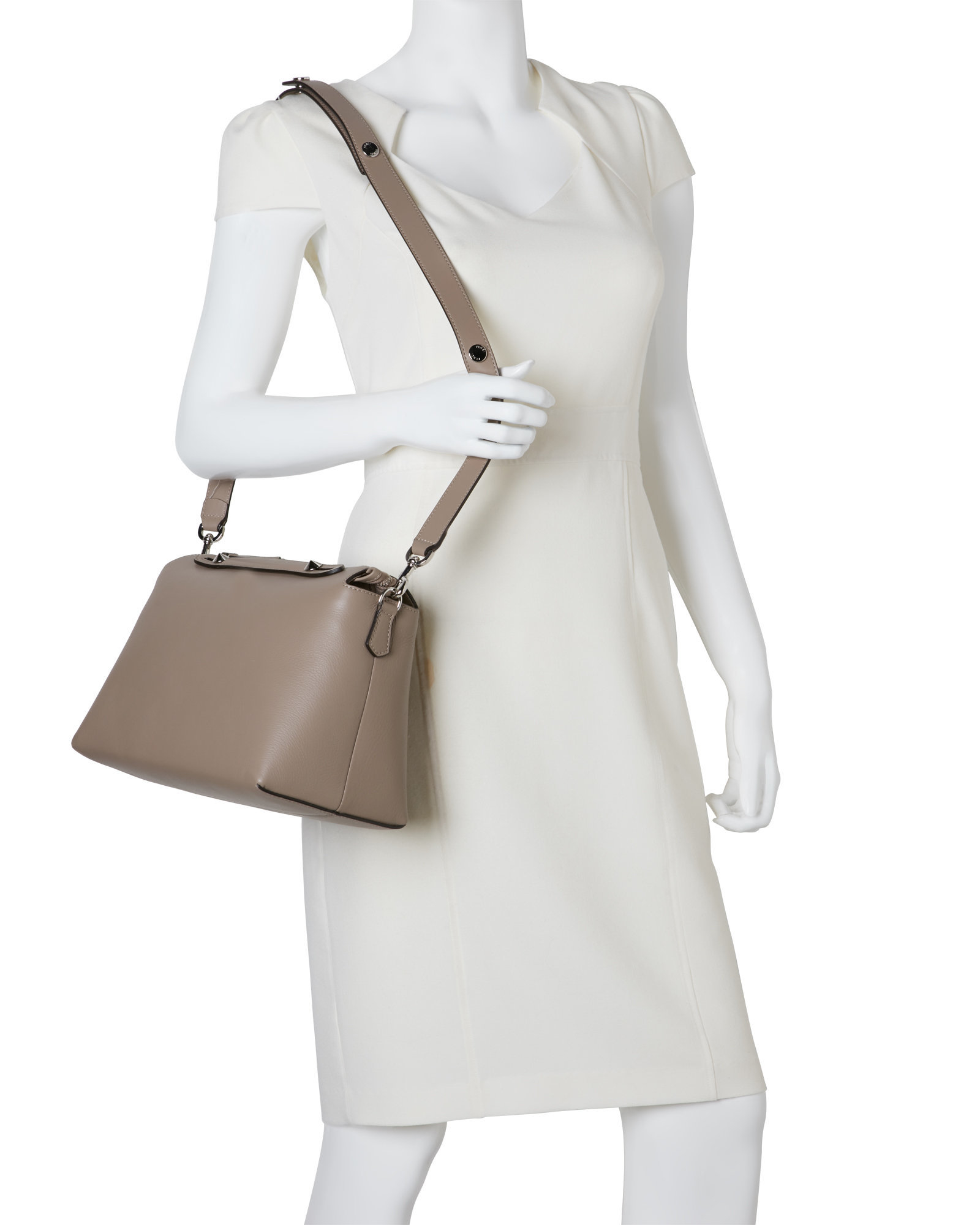 Lyst - Fendi Dove Grey By The Way Large Satchel in Gray 559275b889482