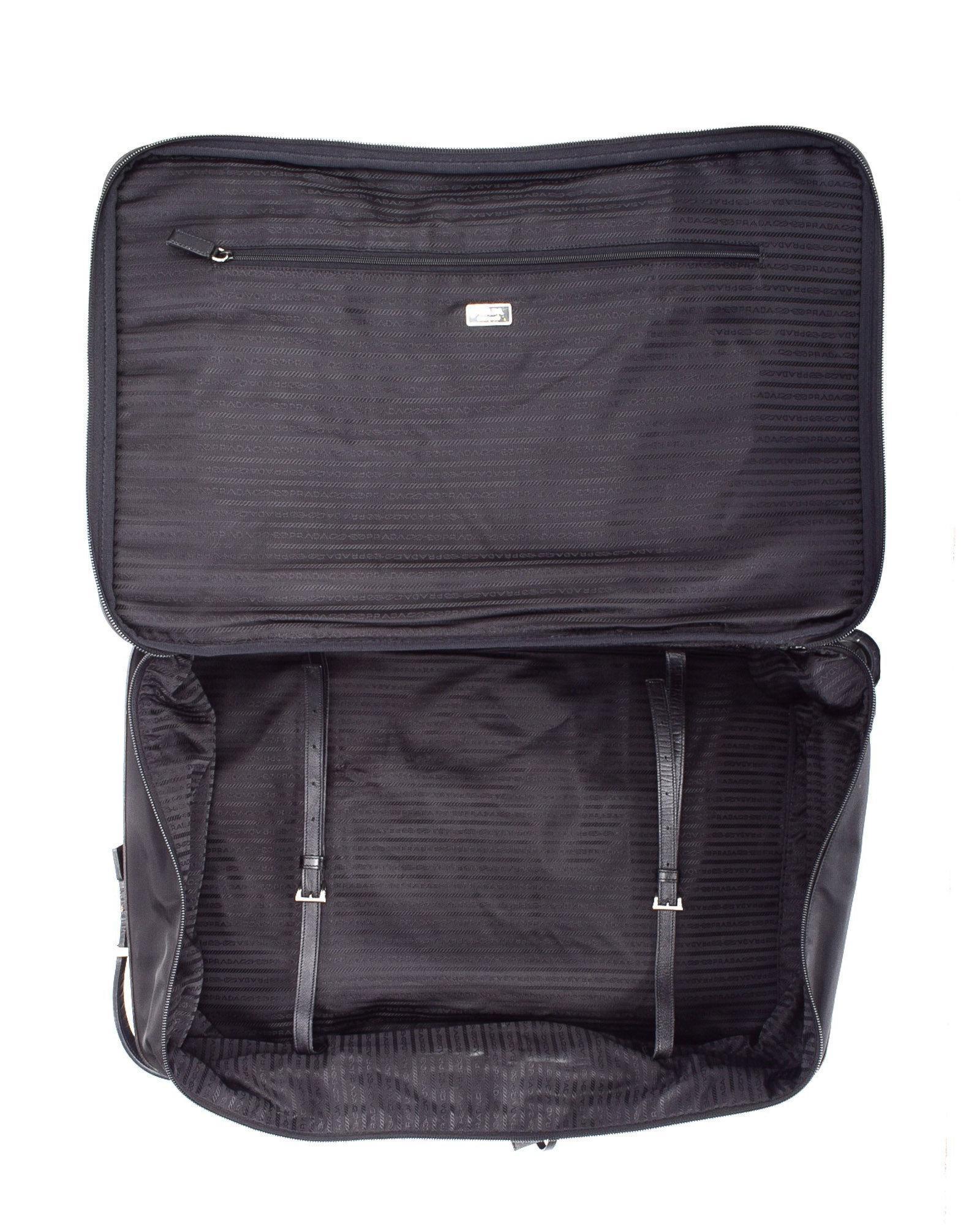 a4e02539270b ... release date lyst prada tessuto travel bag vintage in black d778f 80fb9