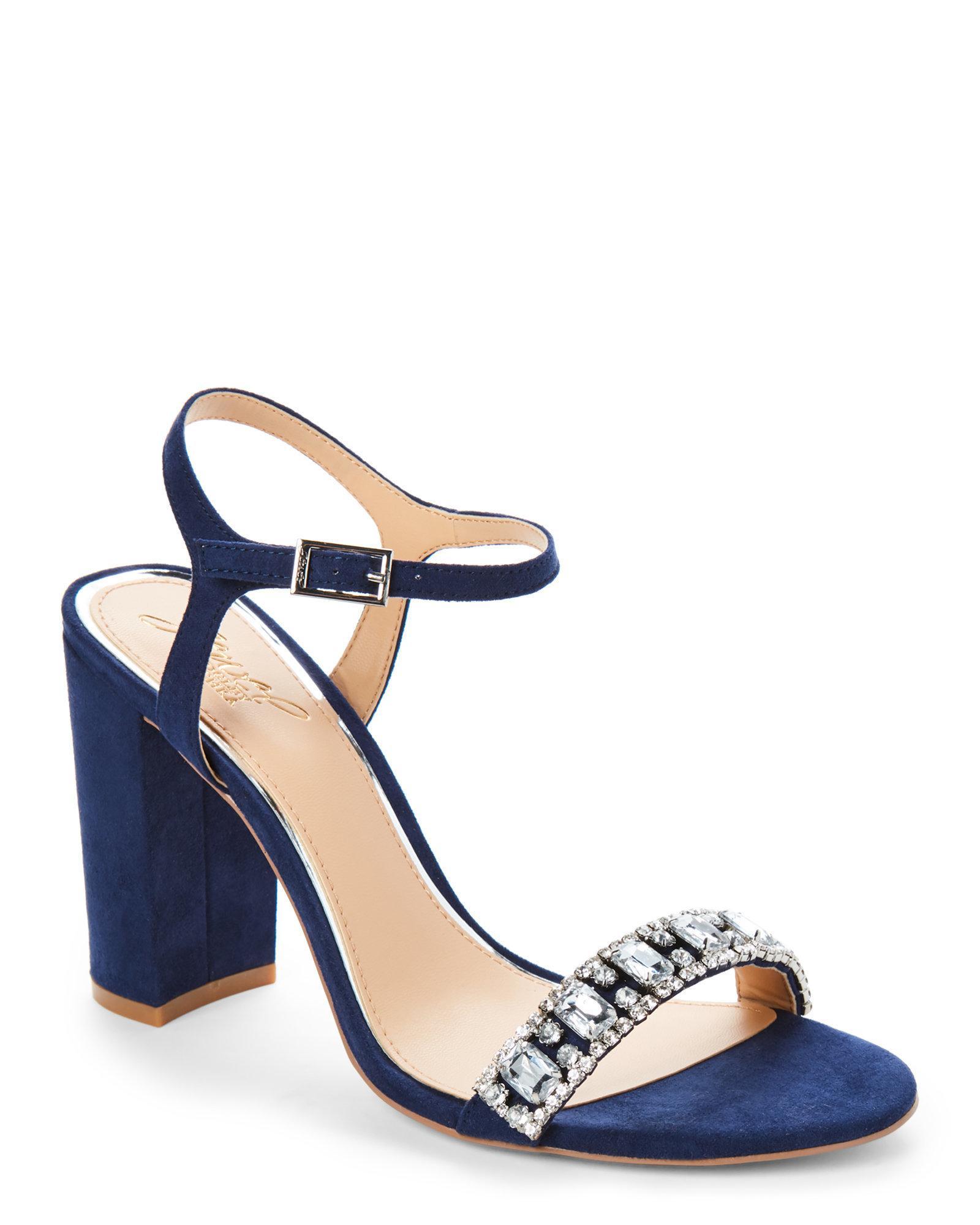 Navy Block Heel Shoes Uk