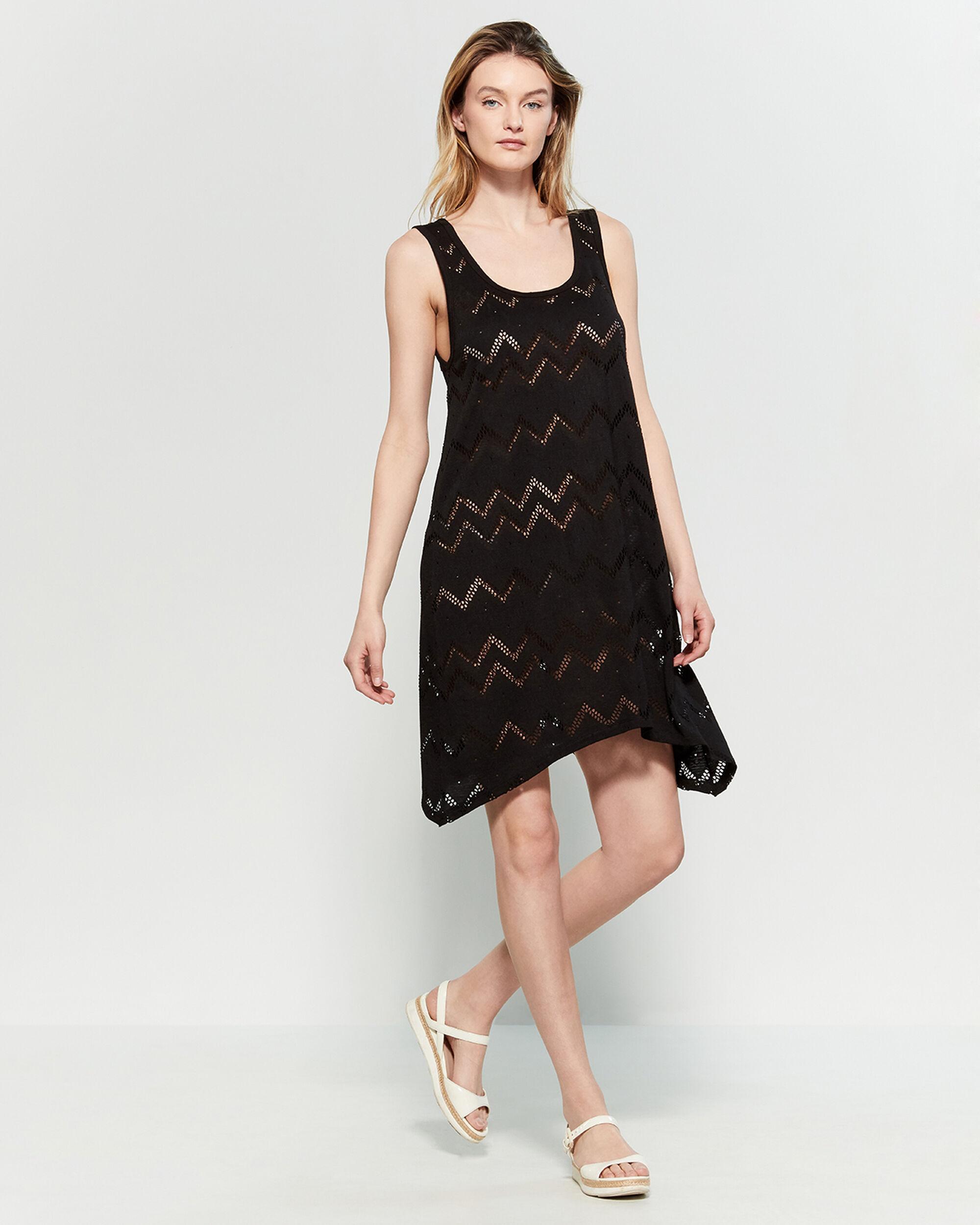 e08a754ec9 Calvin Klein Black Chevron Sharkbite Hem Cover-up Dress in Black - Lyst