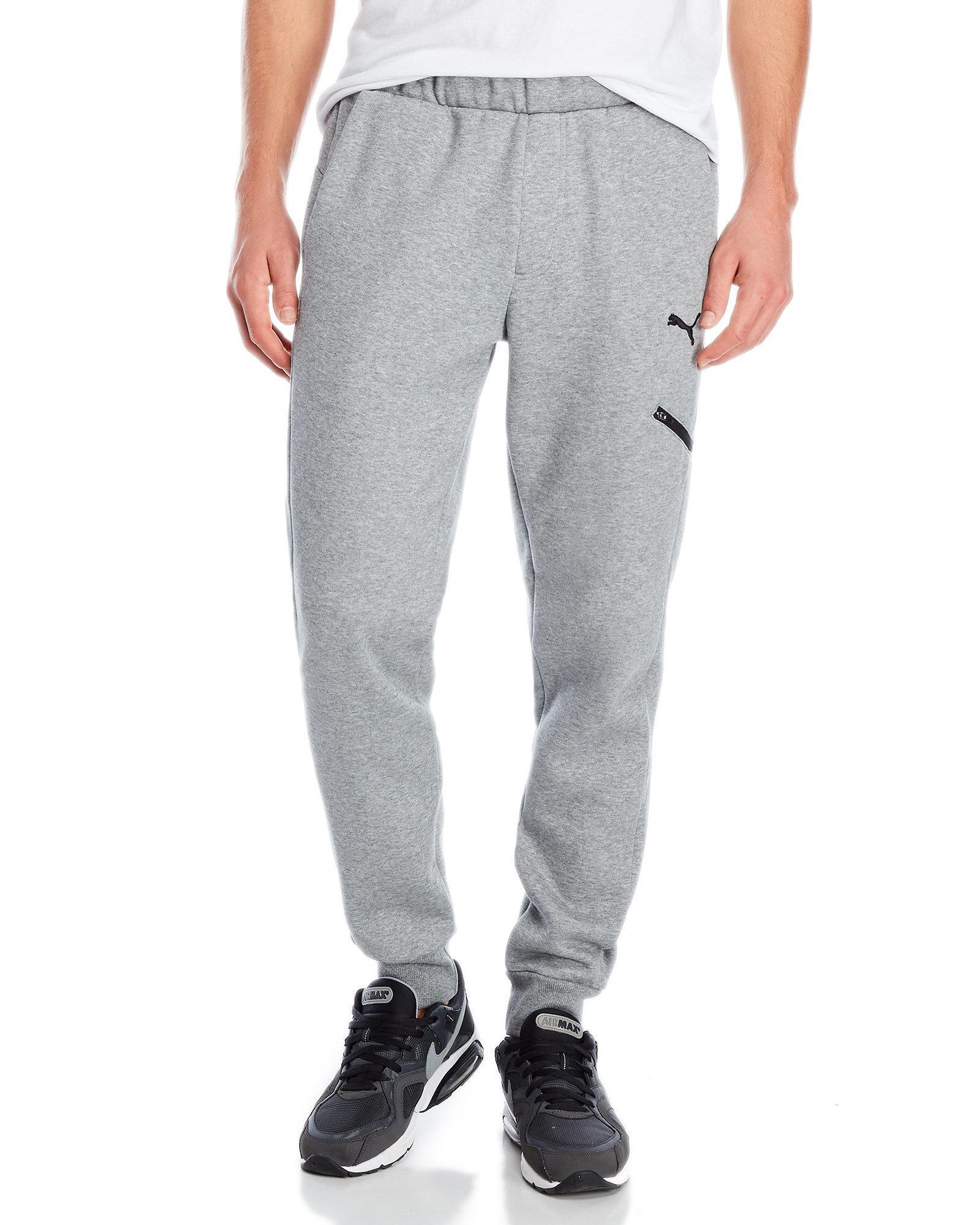 d8bc83e11137 Lyst - Puma Grey Ess Pocket Sweatpants in Gray for Men