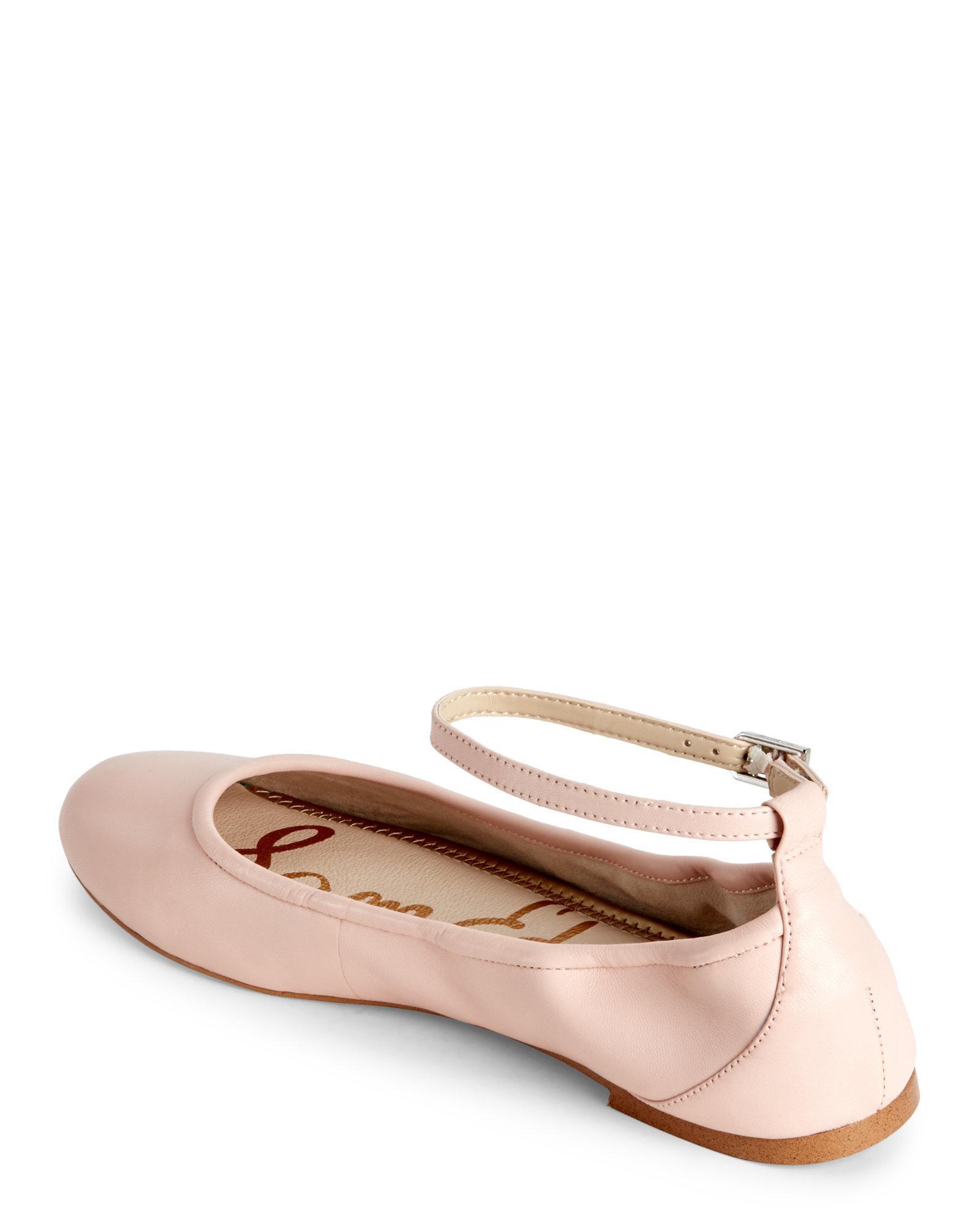 88832dfebd4b Lyst - Sam Edelman Primrose Flynn Ankle Strap Ballet Flats
