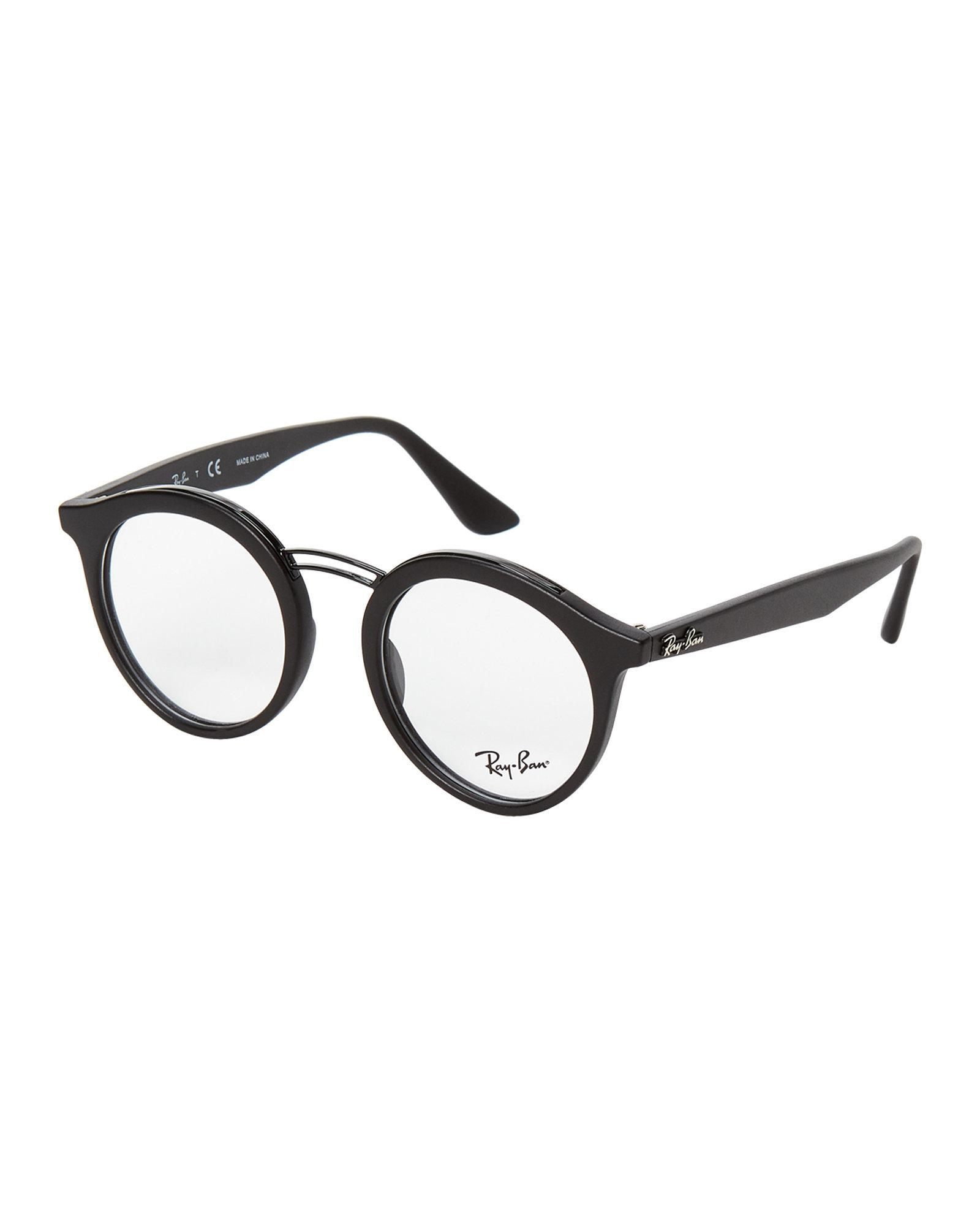 Lyst - Ray-Ban Rb7110 Black Small Round Optical Frames in Black for Men