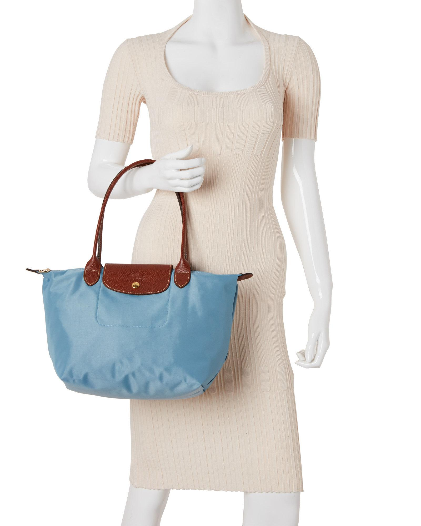 8555455f04c Longchamp Light Blue Le Pliage Néo Small Tote in Blue - Lyst