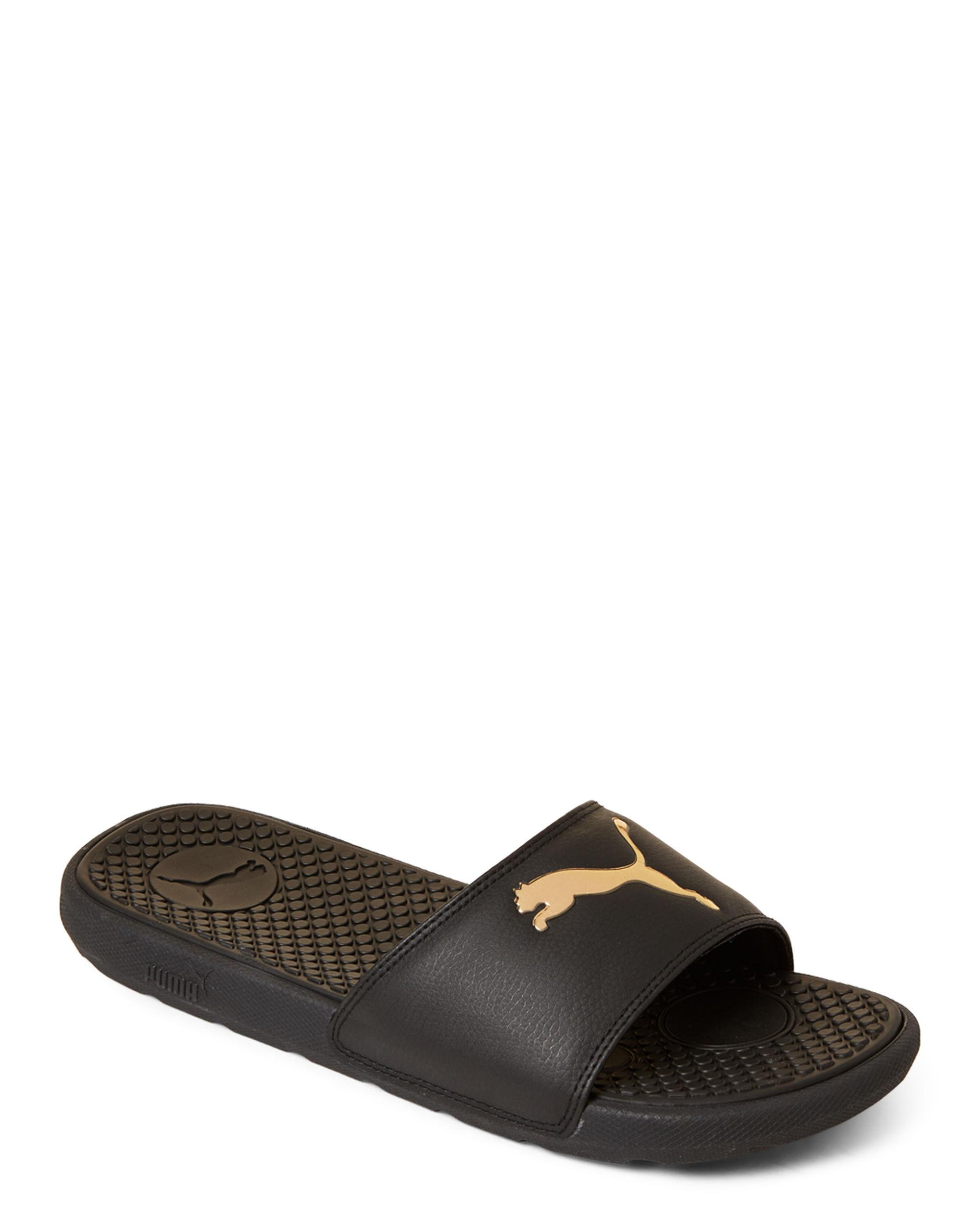 meilleure sélection 30d90 ba133 Women's Black & Gold Cool Cat Sport Slide Sandals