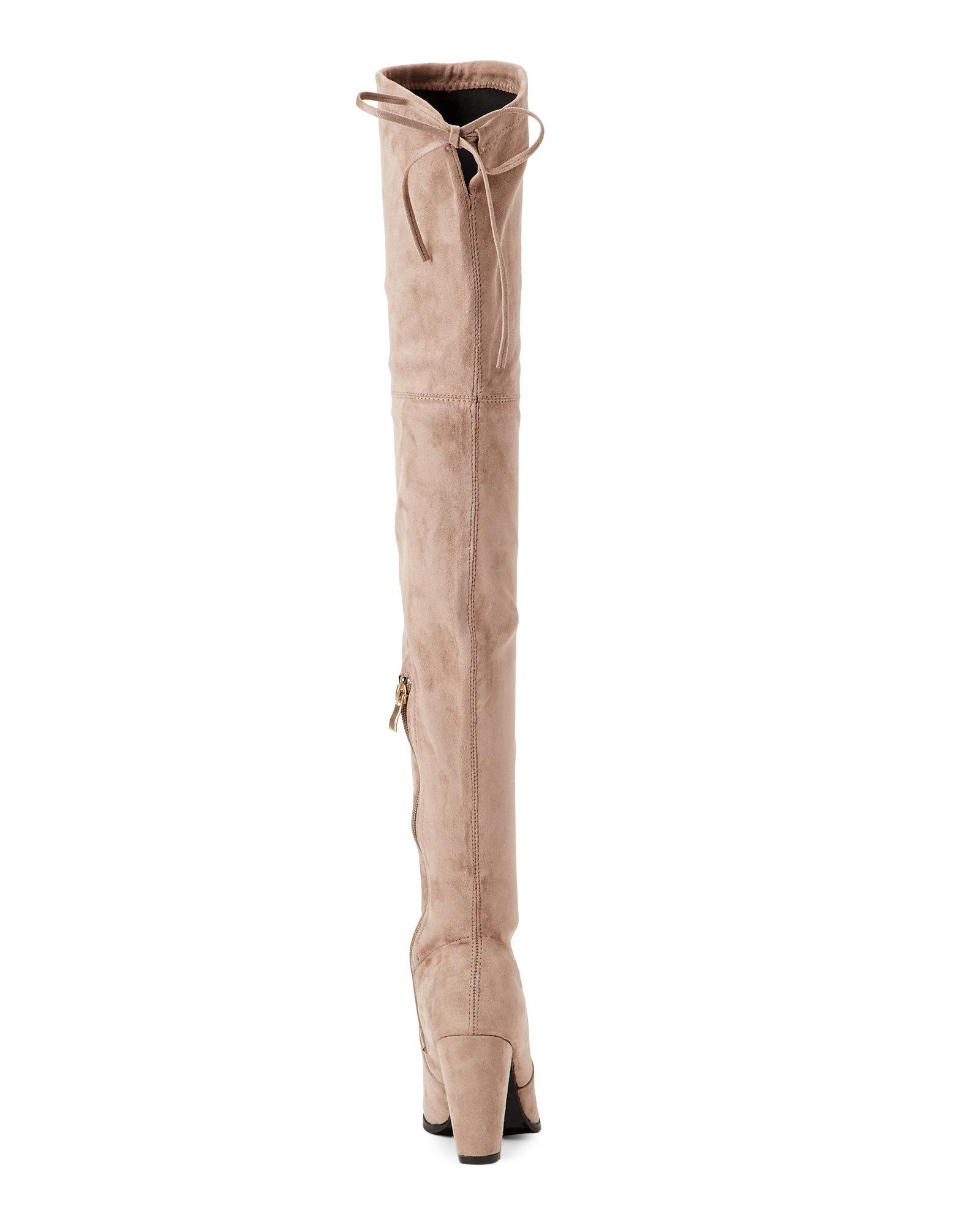 e26dd584a15 Lyst - Catherine Malandrino Taupe Sorcha High Heel Over The Knee Boots