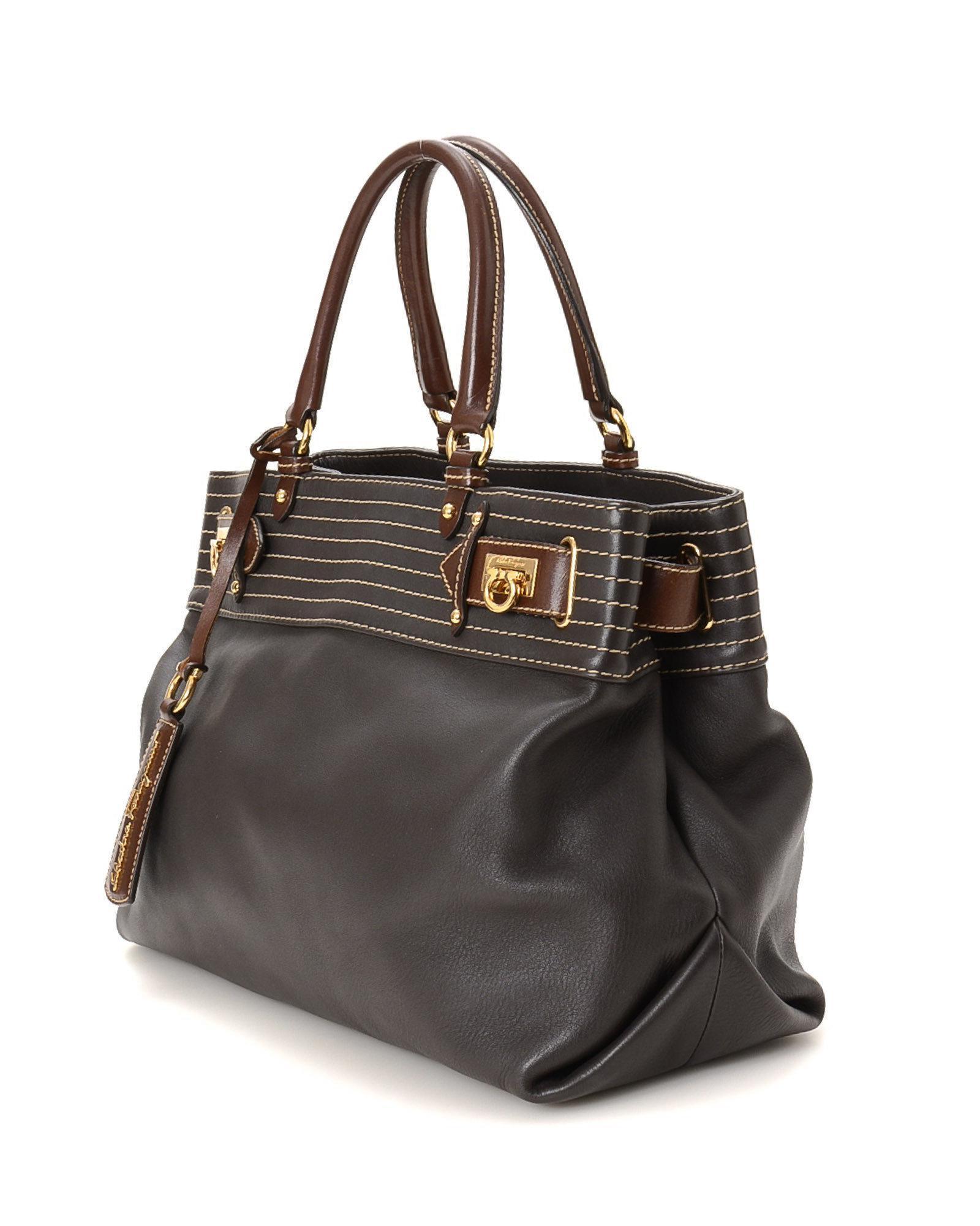 c6ef25a484 Lyst - Ferragamo Shoulder Bag - Vintage in Black