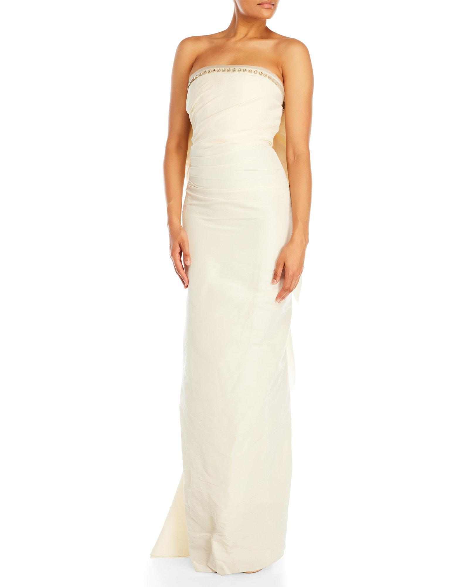 Lyst - Lanvin White Bow Back Gown in White