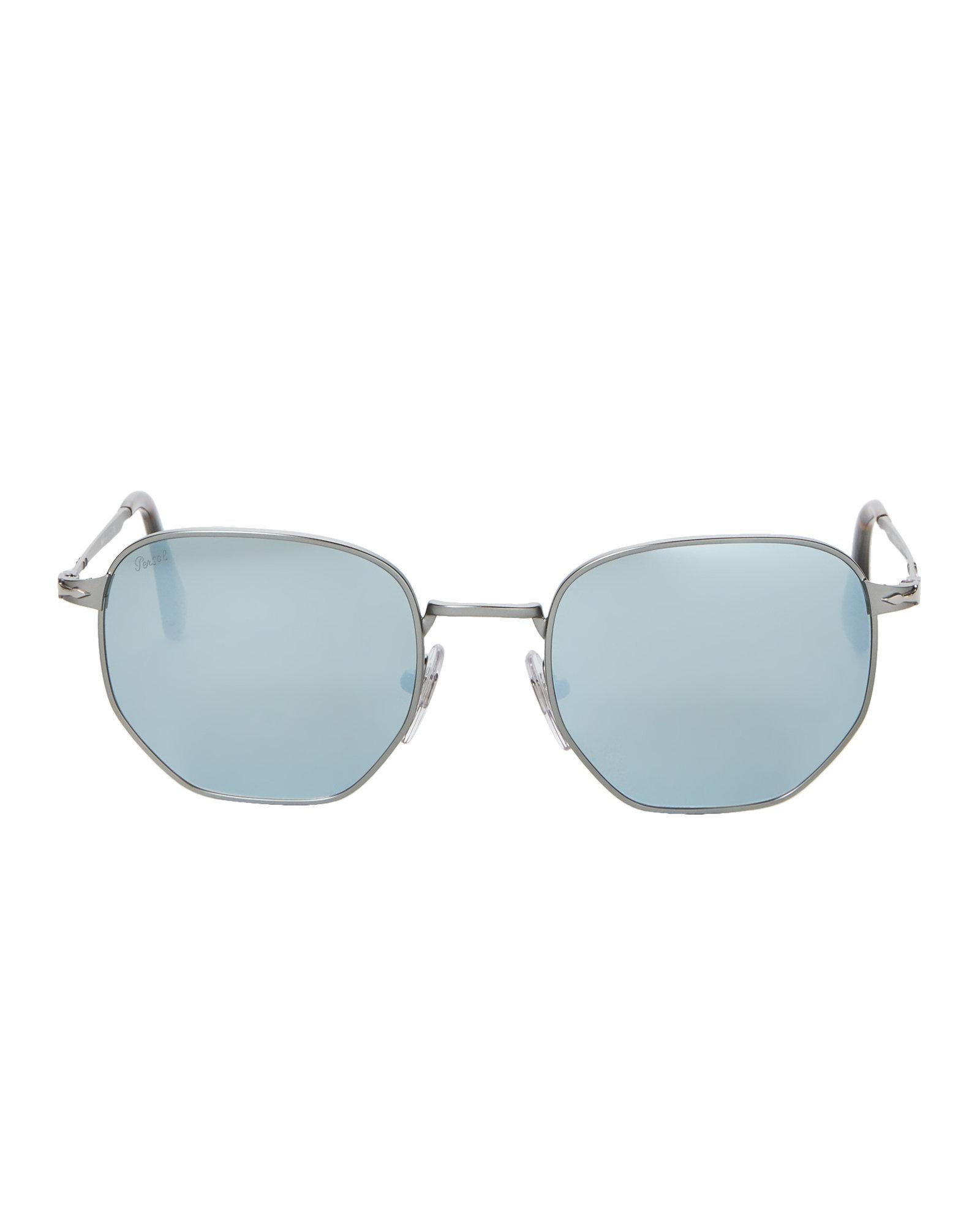 Men Mirror Black Hexagon Persol Gunmetal amp; Sunglasses Po2446s For Lyst PFw7zq