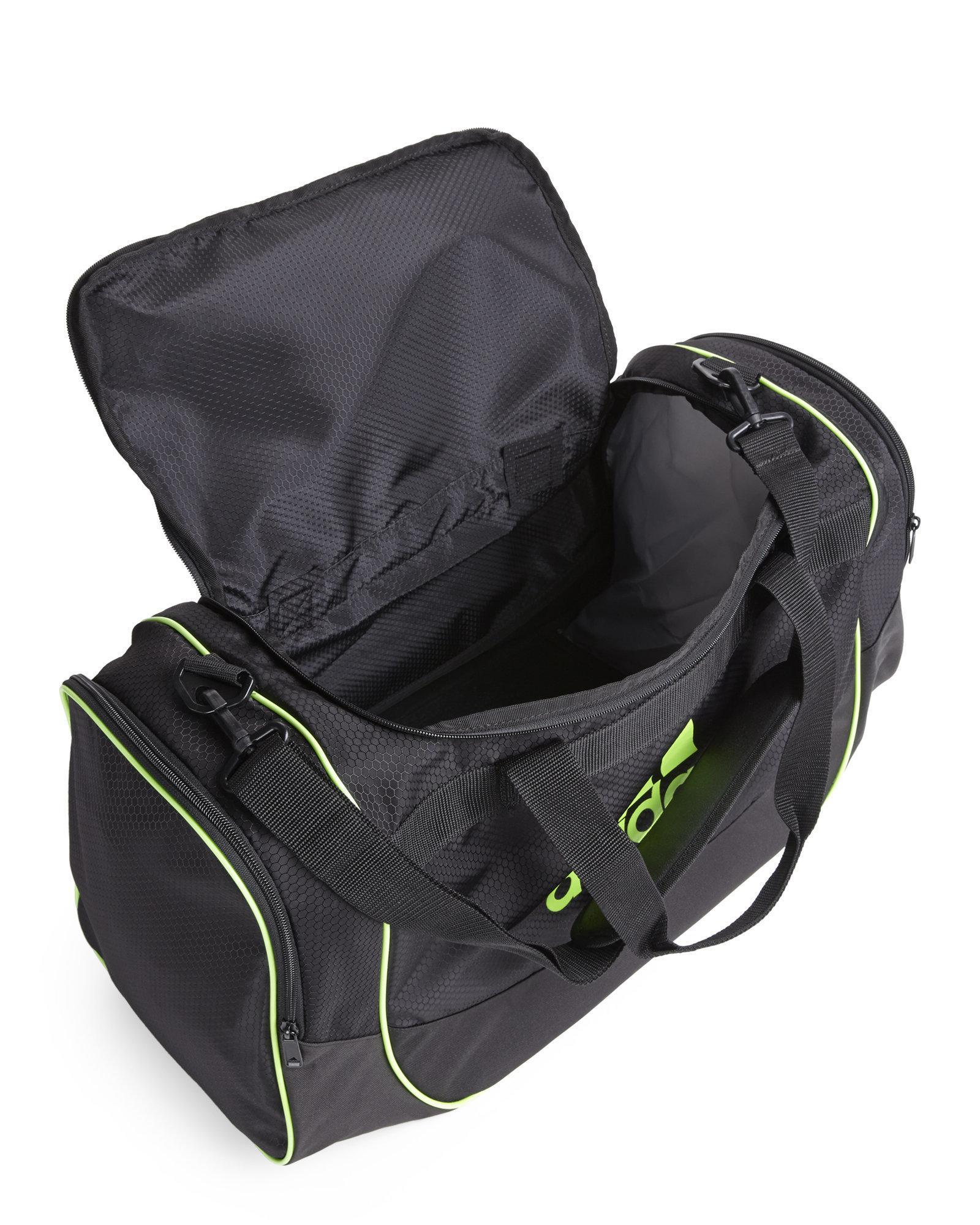 d9dc030d66 Lyst - adidas Originals Black   Neon Green Defense Medium Duffle Bag ...
