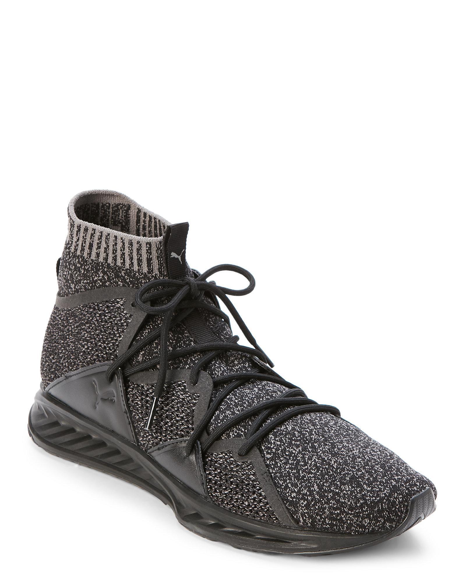 newest collection 937ad 3e92e PUMA Gray Black & Grey Ignite Wave Evoknit Sneakers for men
