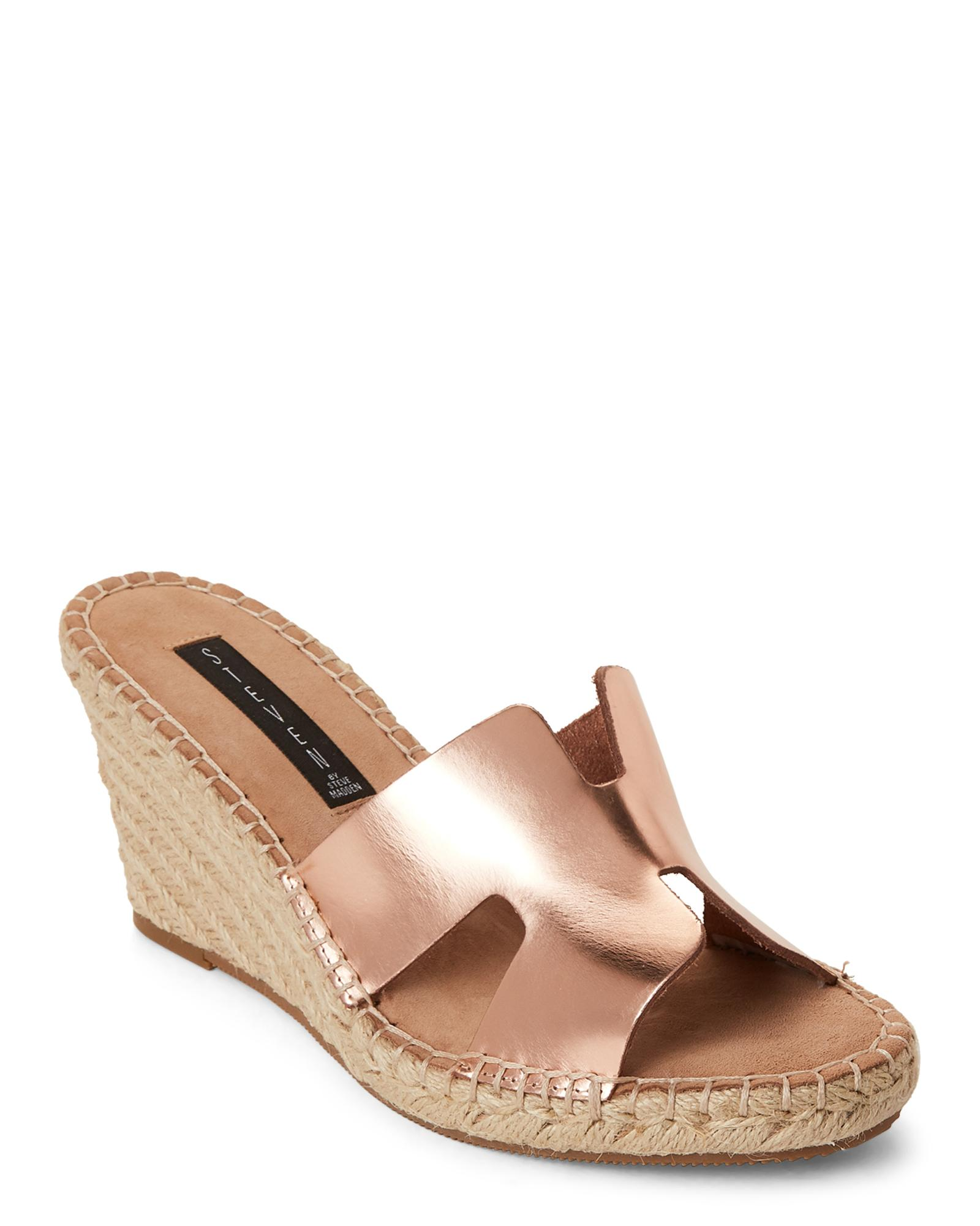 8a5bff6db7f Steven by Steve Madden Red Rose Gold Eryk Wedge Sandals