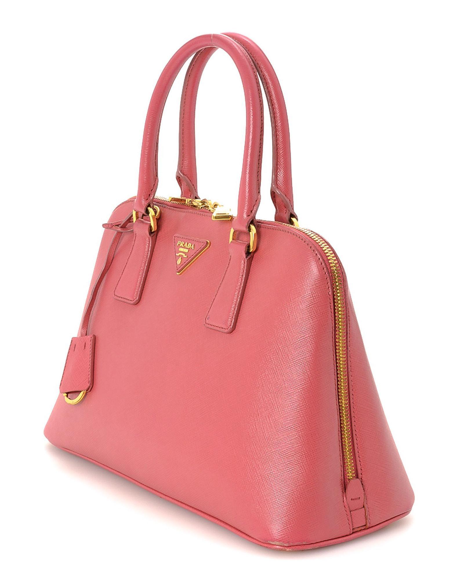 77f0dea697db Lyst - Prada Saffiano Two Way Handbag - Vintage in Pink