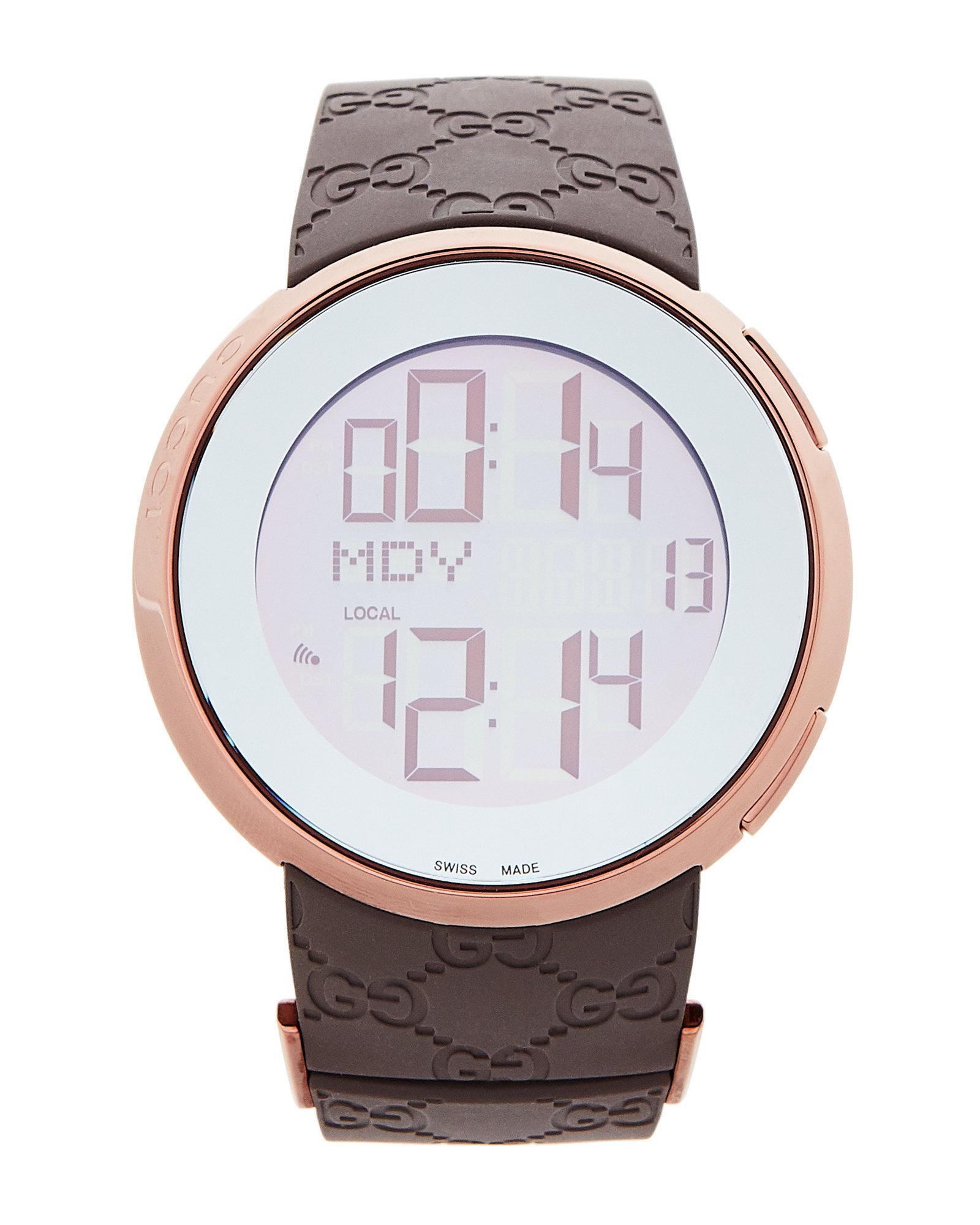 d7039b9c41b Lyst - Gucci Ya114209 114 I- Digital Watch in Metallic