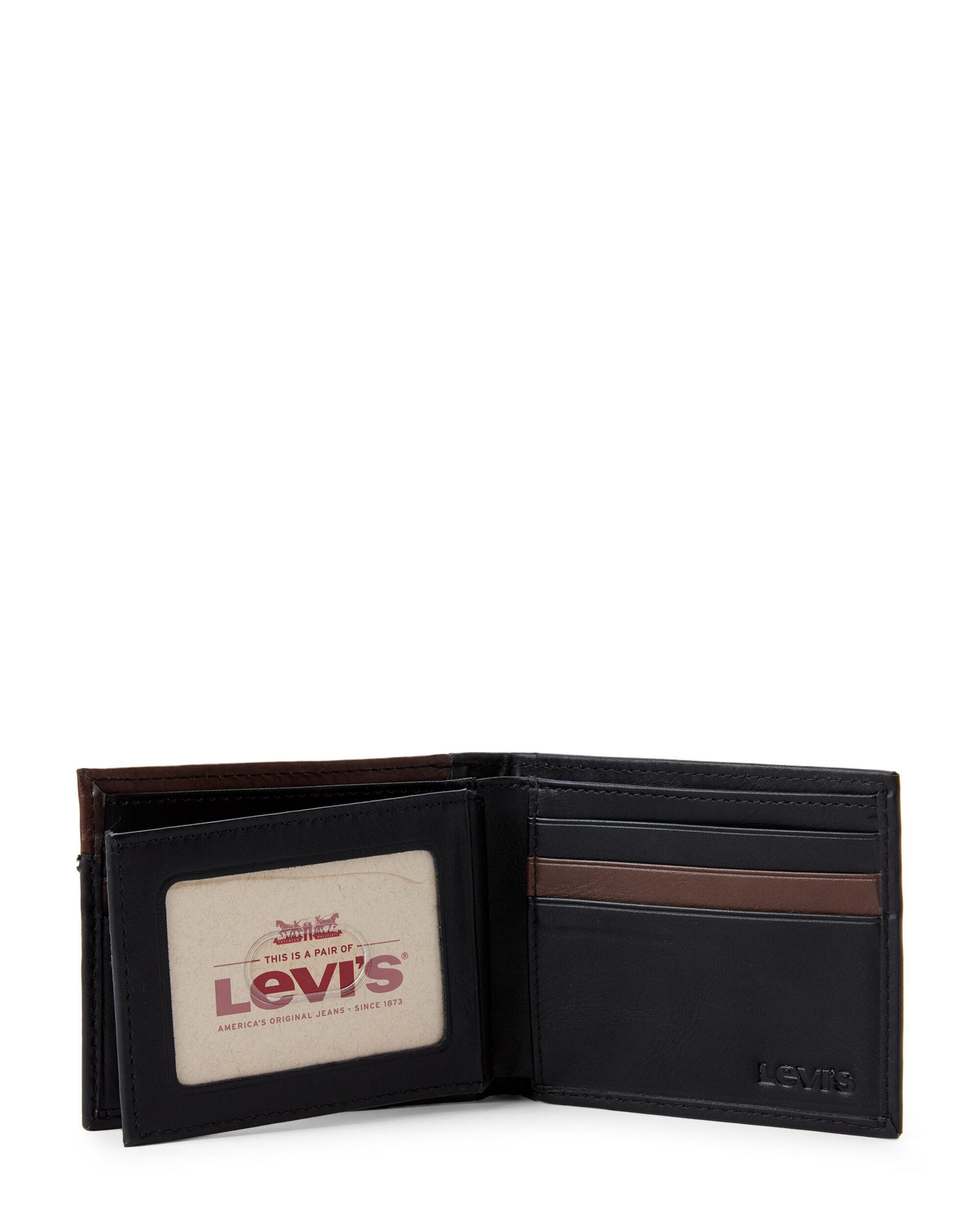 c262486ab Levi's Black Connor Rfid Slimfold Wallet for men. View fullscreen