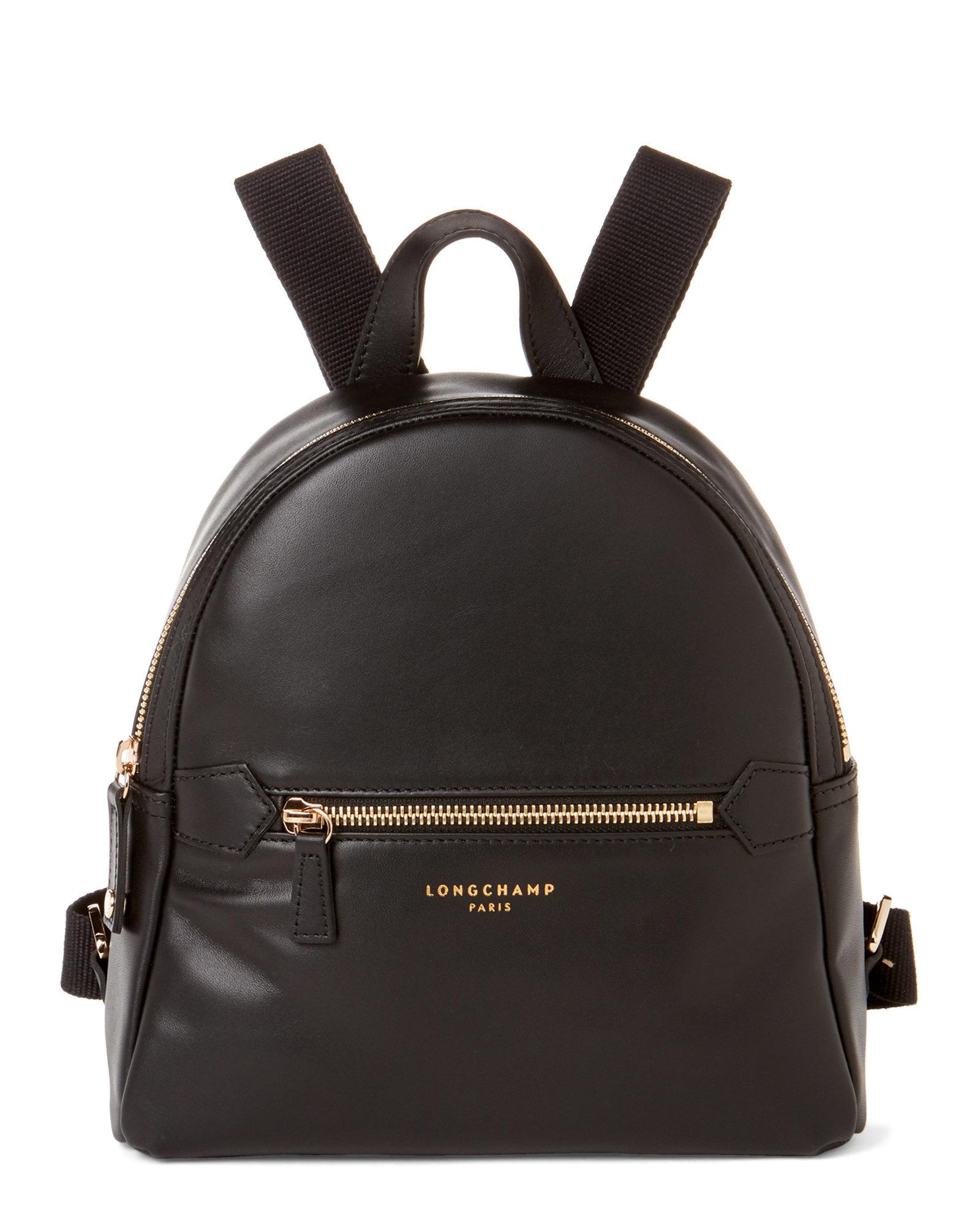 50d8ab218016 Lyst - Longchamp Black Leather 2.0 Backpack in Black