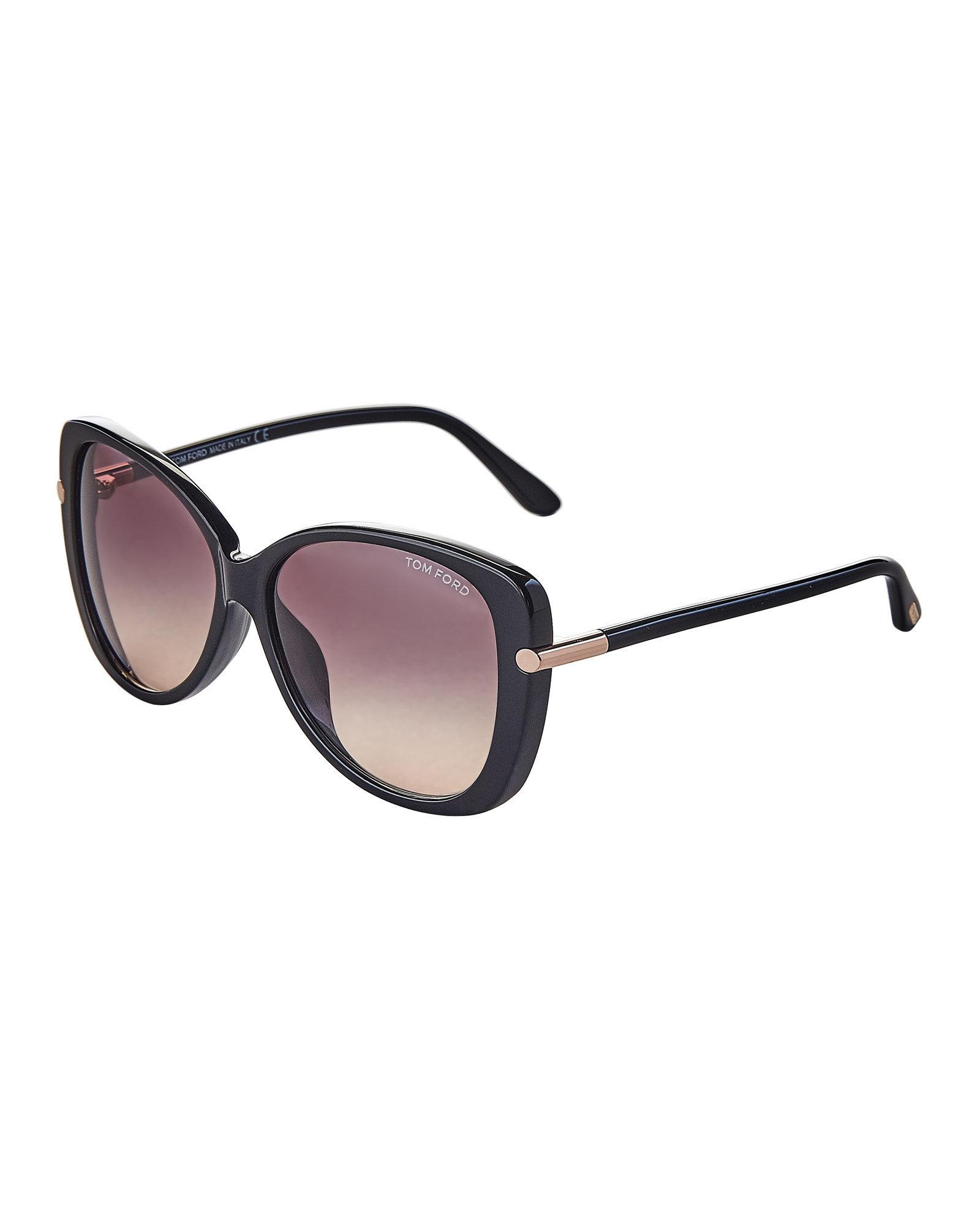 55dc78a48f Lyst - Tom Ford Linda Tf9324 Black Butterfly Sunglasses