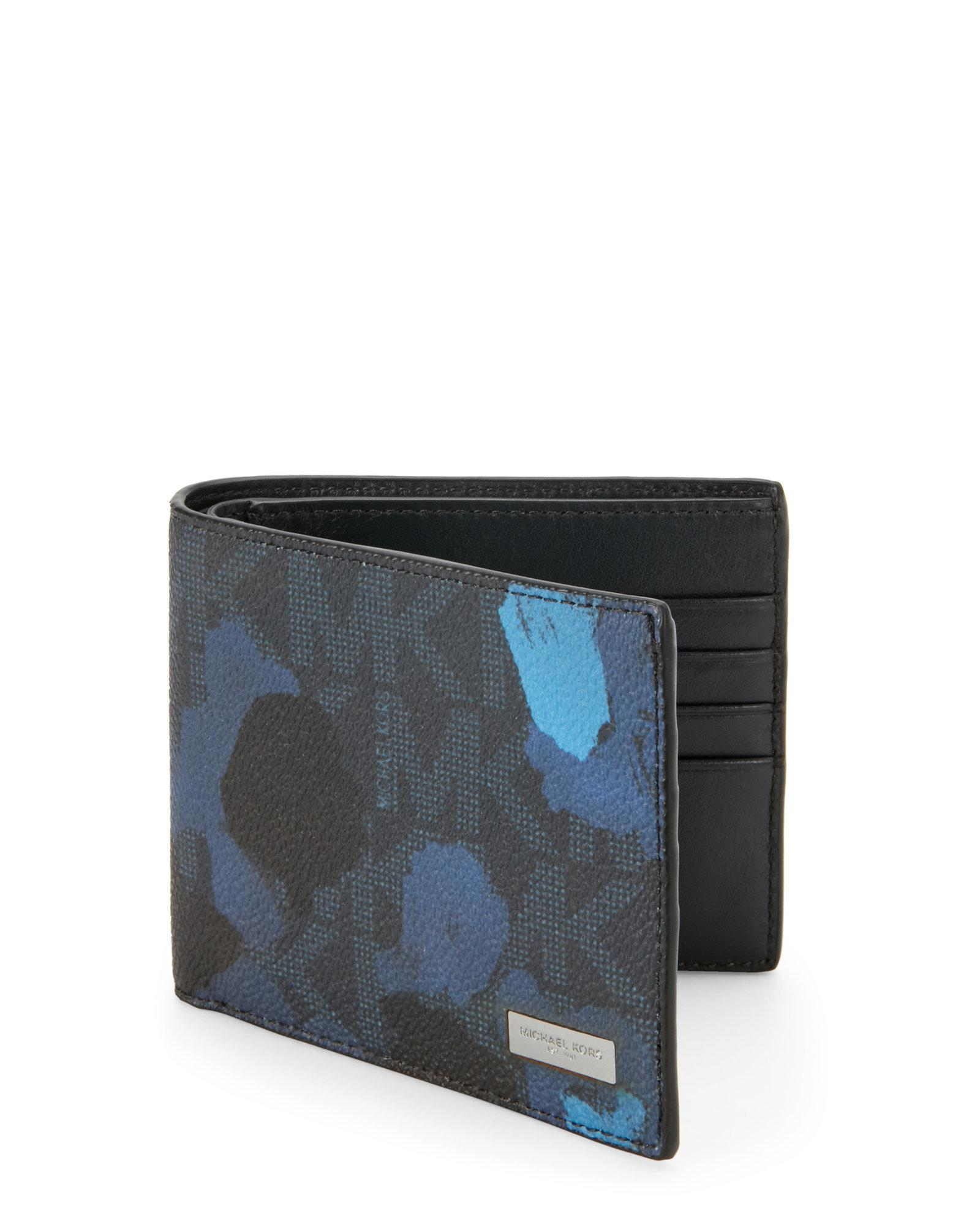 8d18d733681b Michael Kors Jet Set Painterly Camo Billfold Wallet in Blue for Men ...