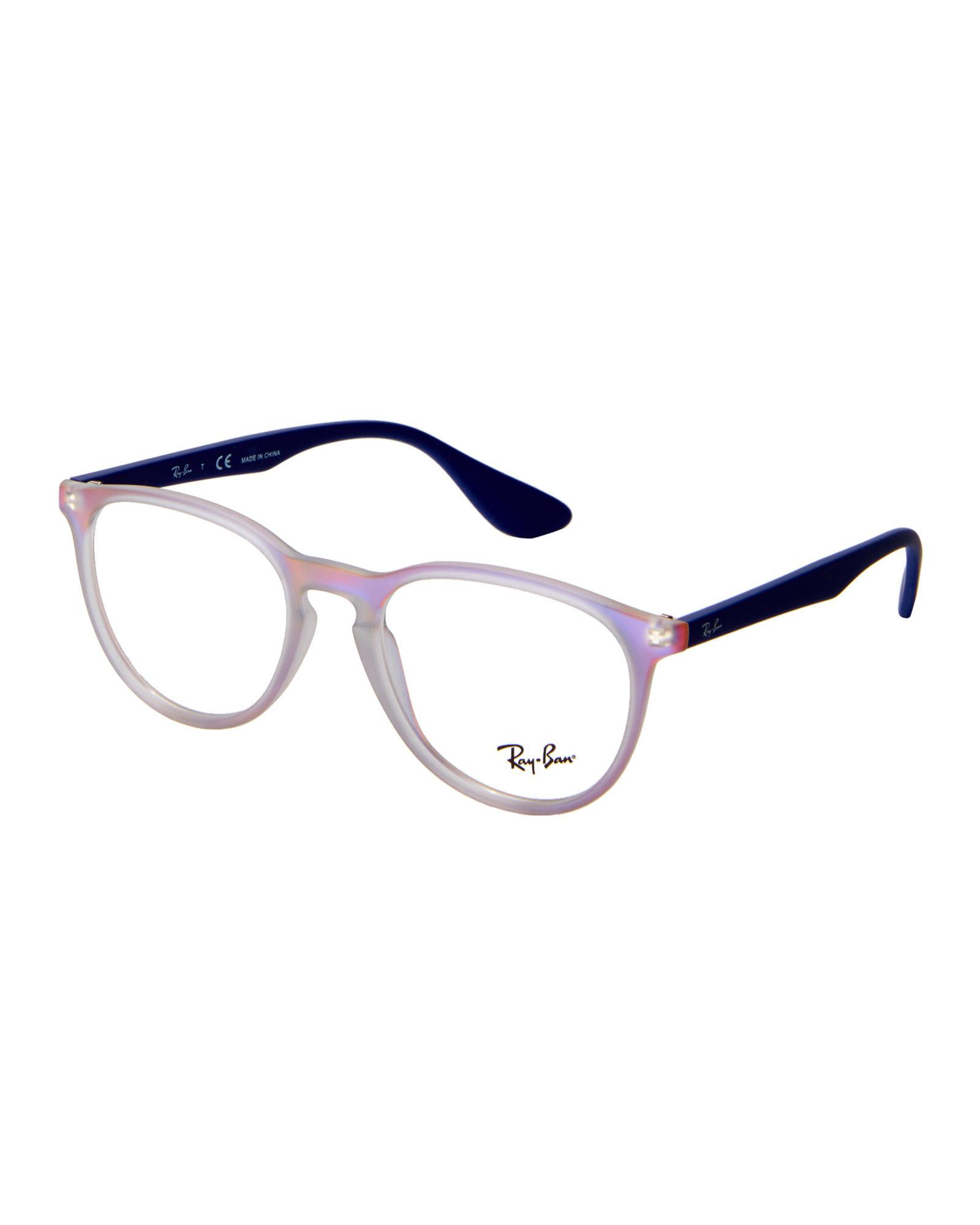 23a11c6527 Lyst - Ray-Ban Rb7045 Two-Tone Round Frames