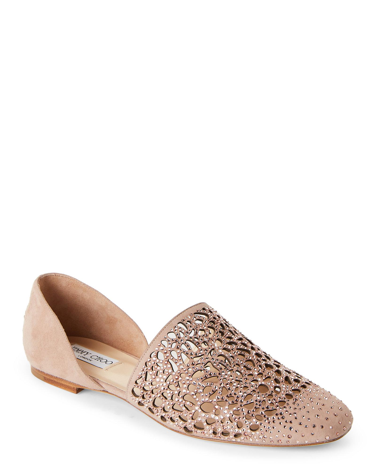 Jimmy Choo Embellished Laser Cut Flats looking for online C8mGVA