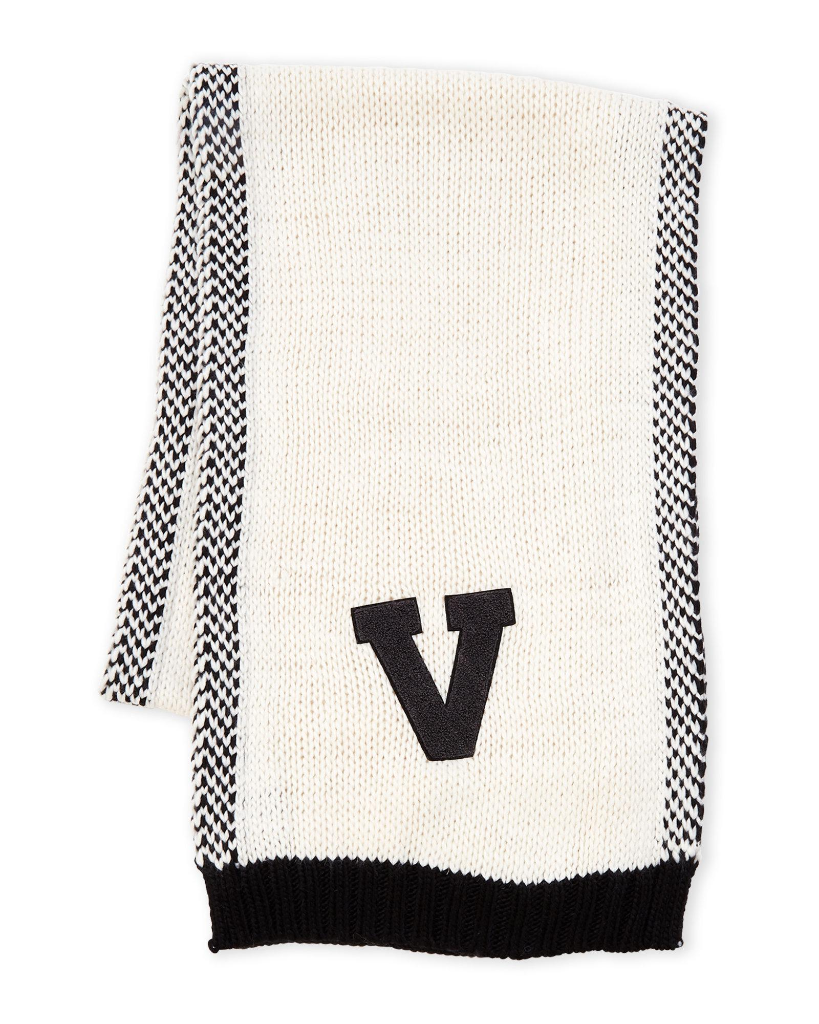 56cee3d61416b Lyst - Vince Camuto Varsity Knit Scarf in Black