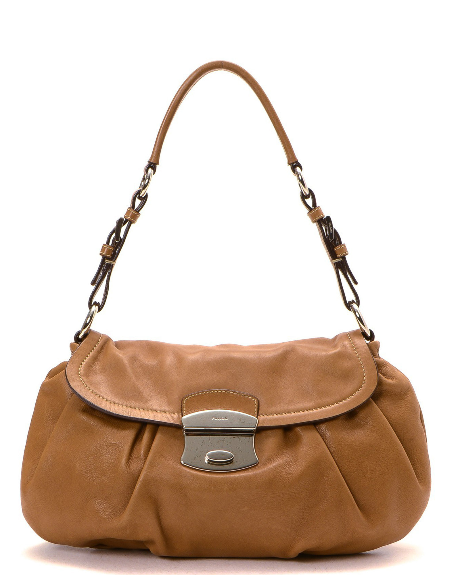 455dc521d516 Prada Shoulder Bag - Vintage in Brown | Lyst