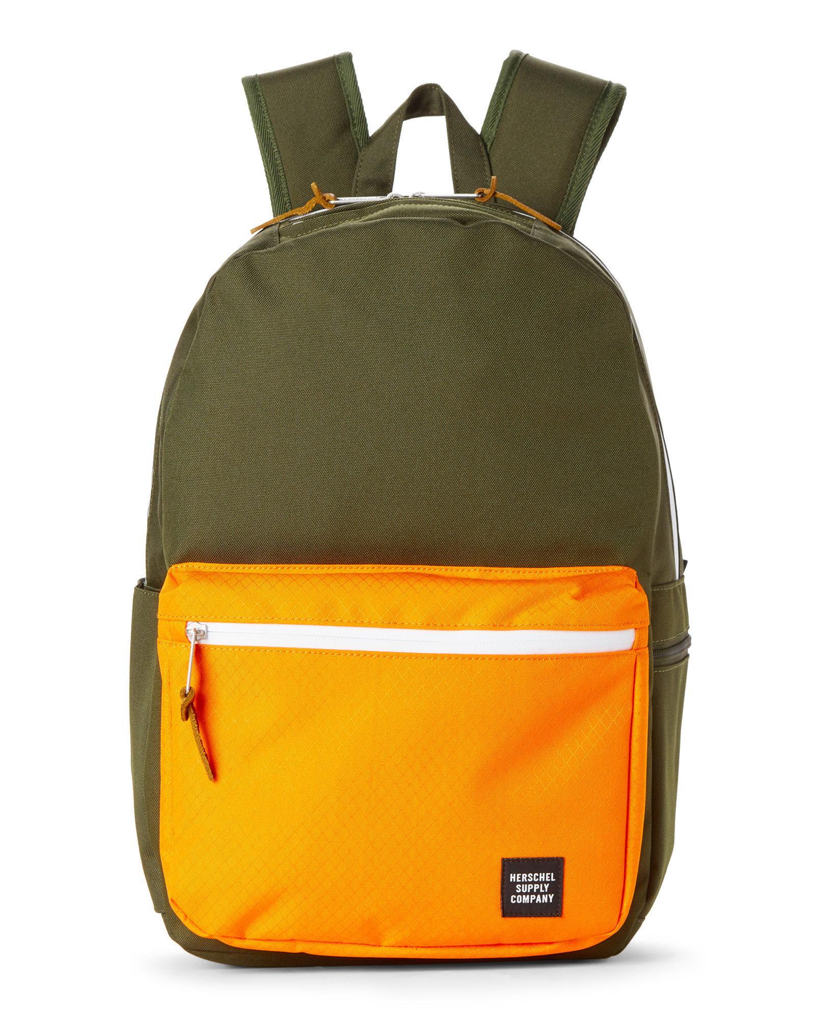 6f5730df991 Lyst - Herschel Supply Co. Forest   Orange Harrison Laptop Backpack ...