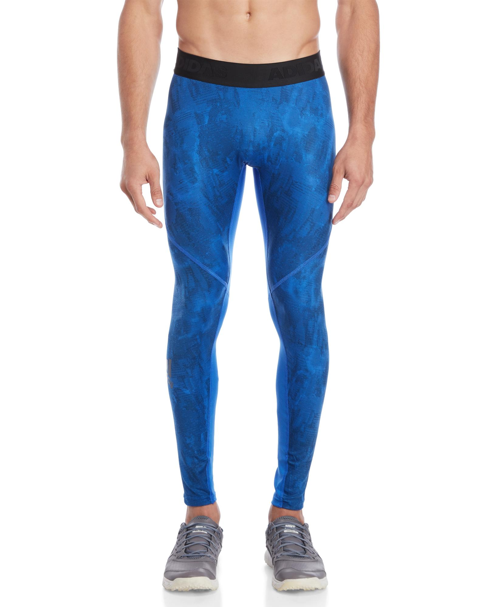 39998eb144 adidas Alphaskin Sport Supreme Speed Printed Tights in Blue for Men ...