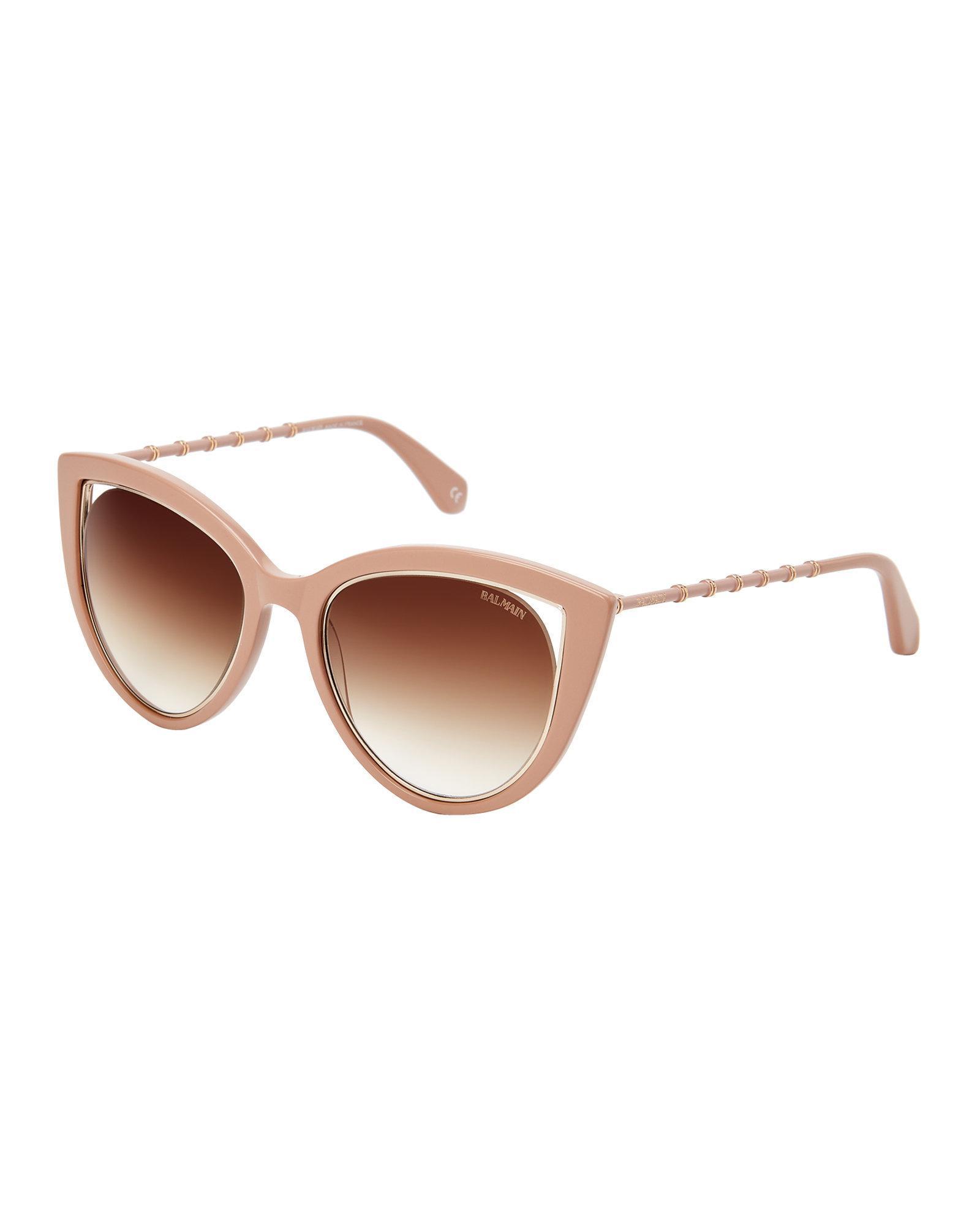 df87b43a346267 Balmain Bl2517 Beige Cat Eye Sunglasses - Lyst