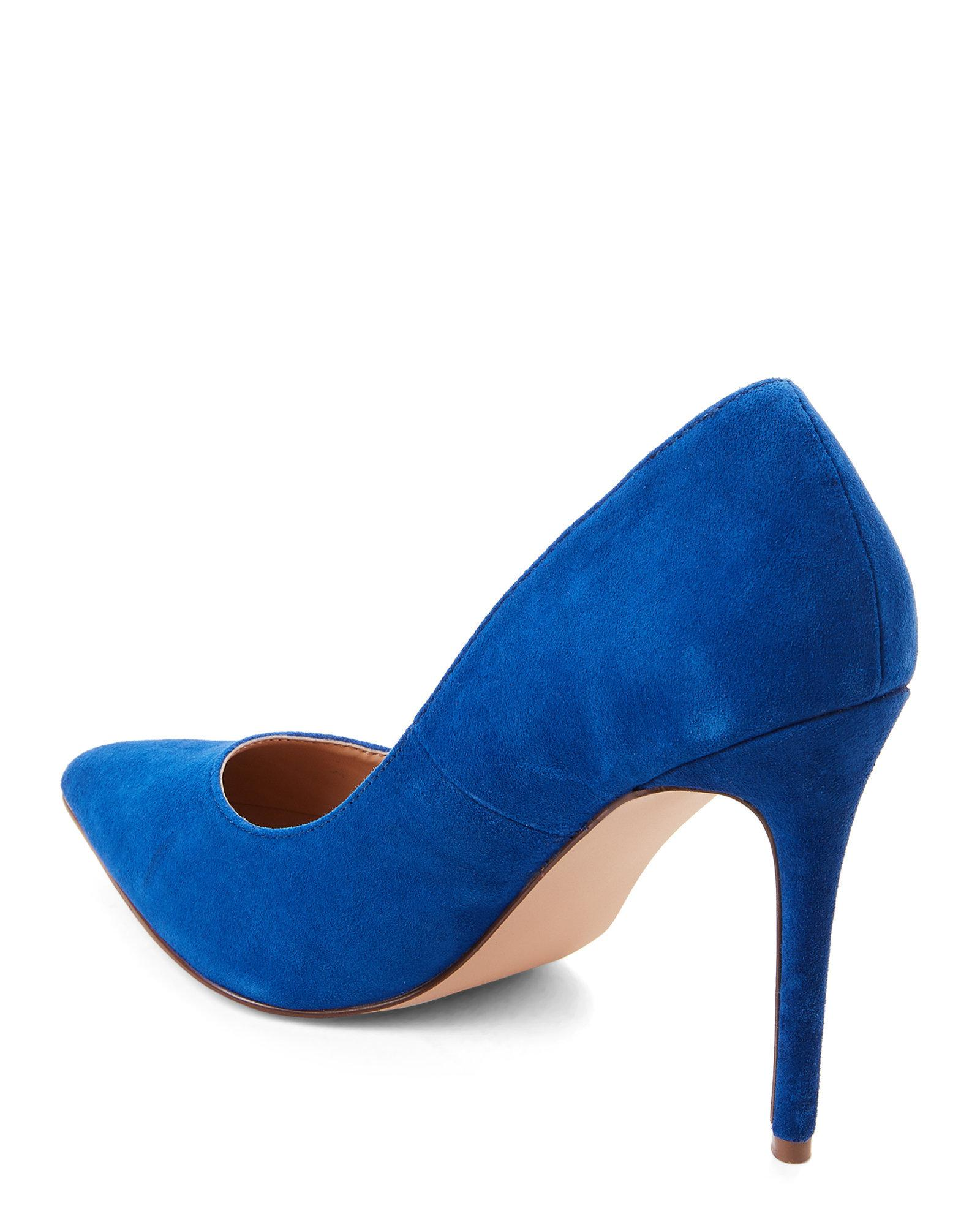 3b9e605cf27 Steve Madden Poet Blue Suede Pointed Toe Pumps