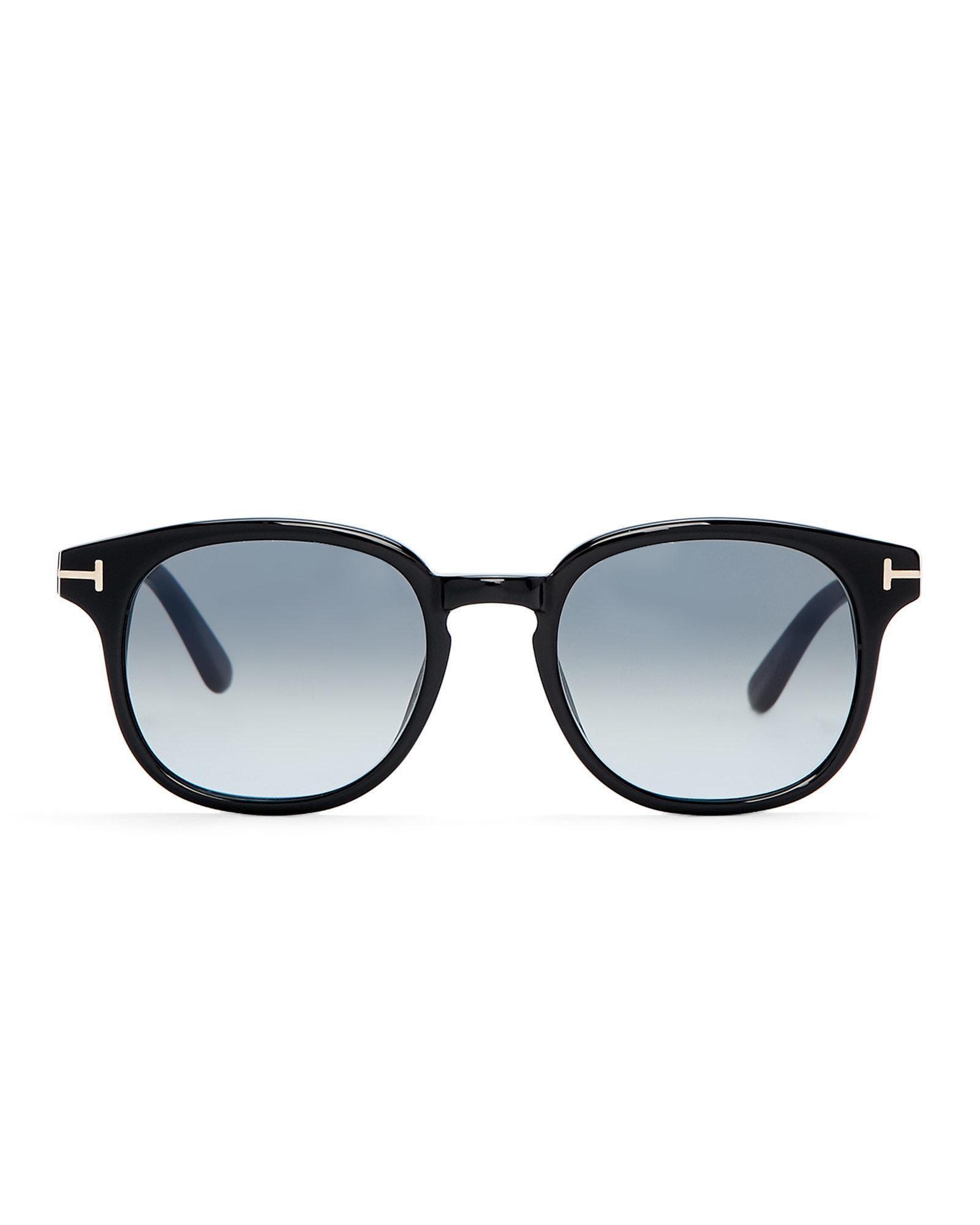 a7e2f210b67cd Tom Ford Tf399 Black Frank Square Sunglasses in Black - Lyst
