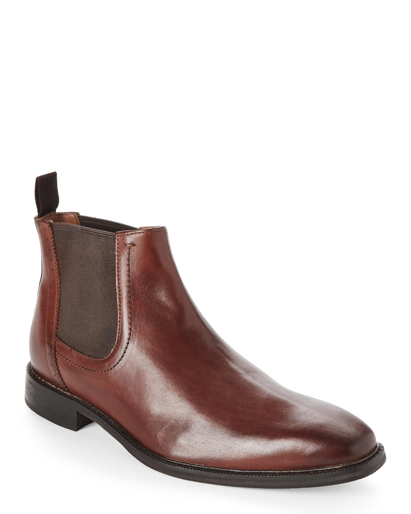 e862fbc54aed0c Lyst - Bacco Bucci Studio Tan Tangier Leather Chelsea Boots in Brown ...